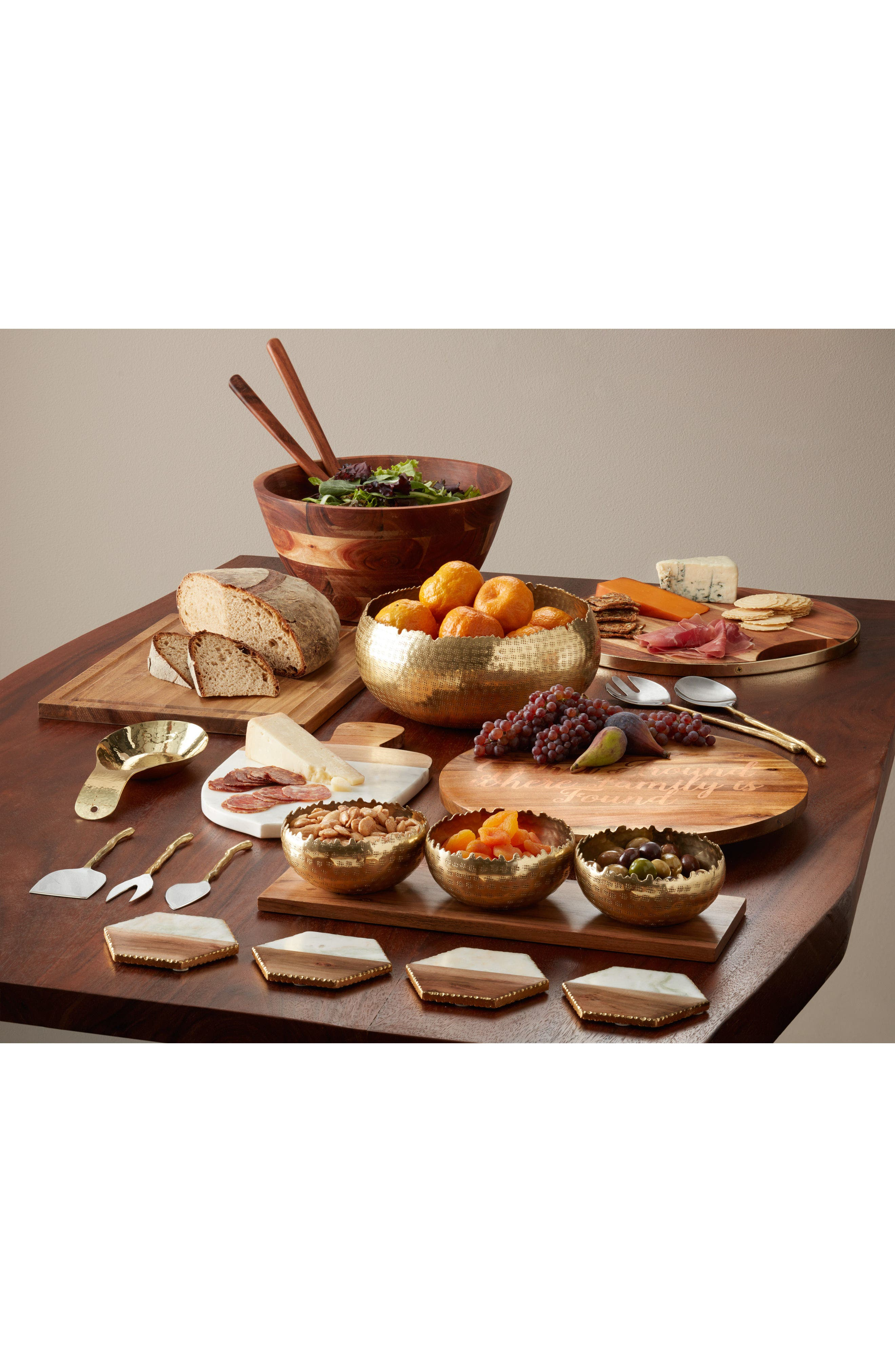 Alternate Image 2  - Nordstrom at Home Medium Wood Salad Bowl