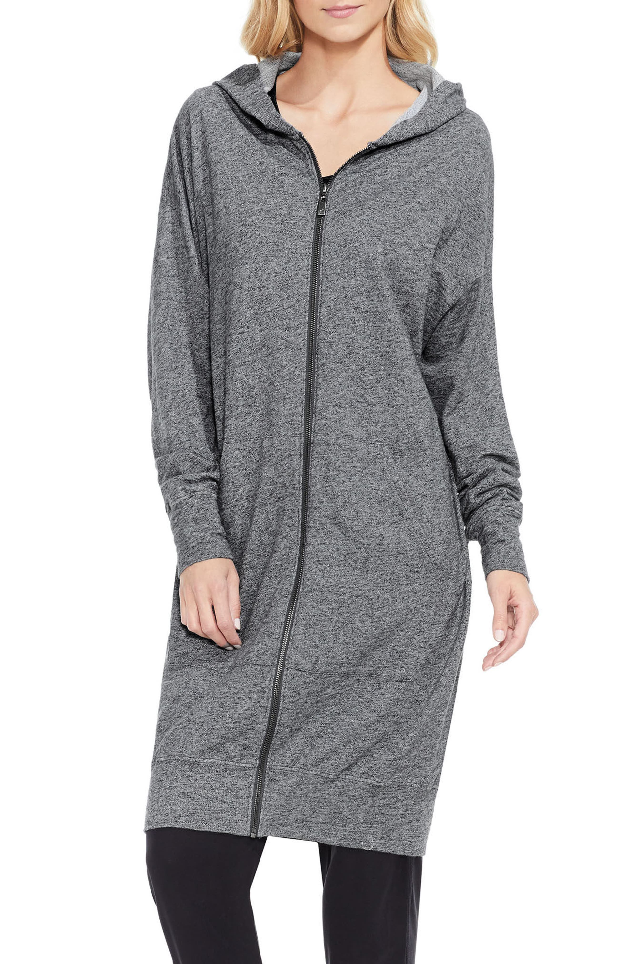 Alternate Image 3  - Two by Vince Camuto Long Hoodie
