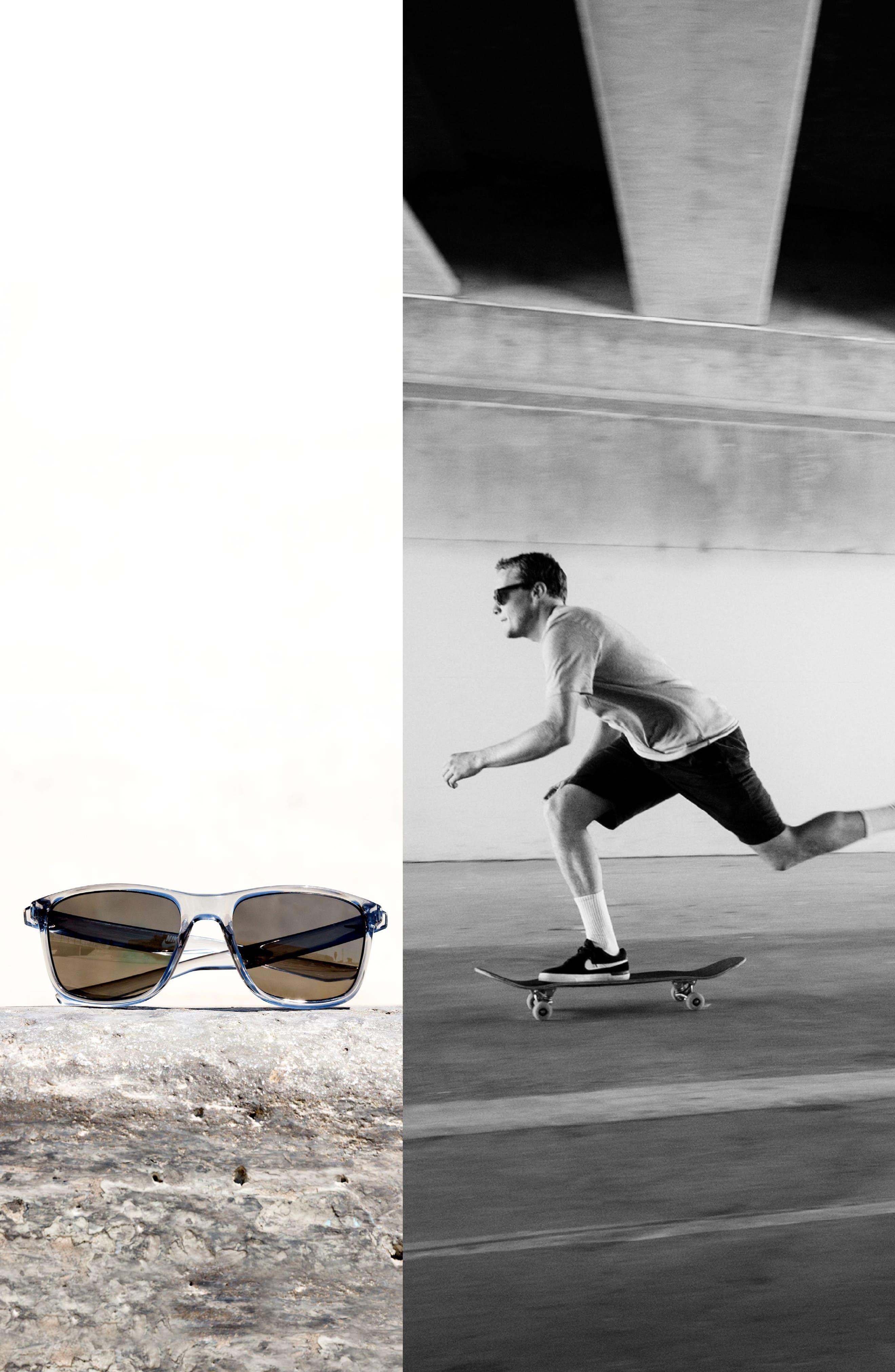 Unrest 57mm Polarized Sunglasses,                             Alternate thumbnail 2, color,                             Matte Black/ Deep Pewter