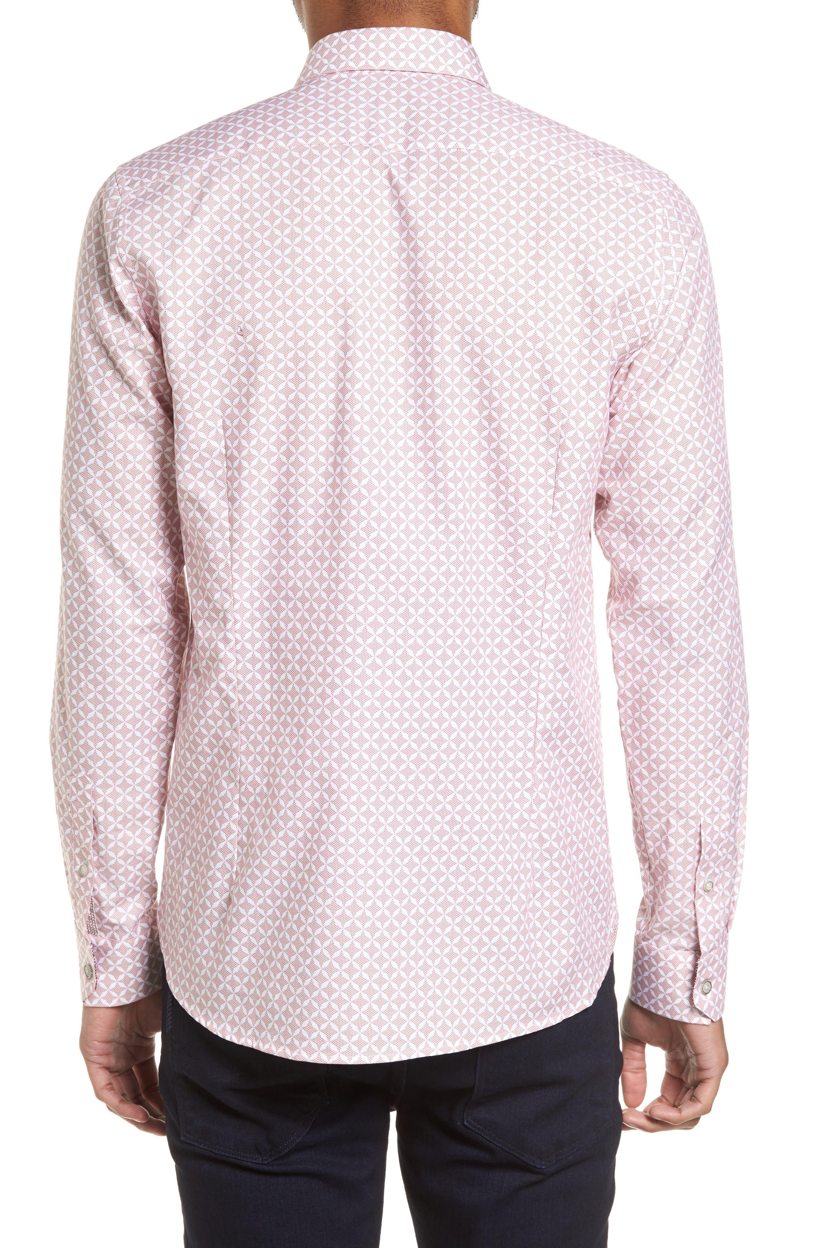 Langaz Dot Lattice Sport Shirt,                             Alternate thumbnail 2, color,                             Pink