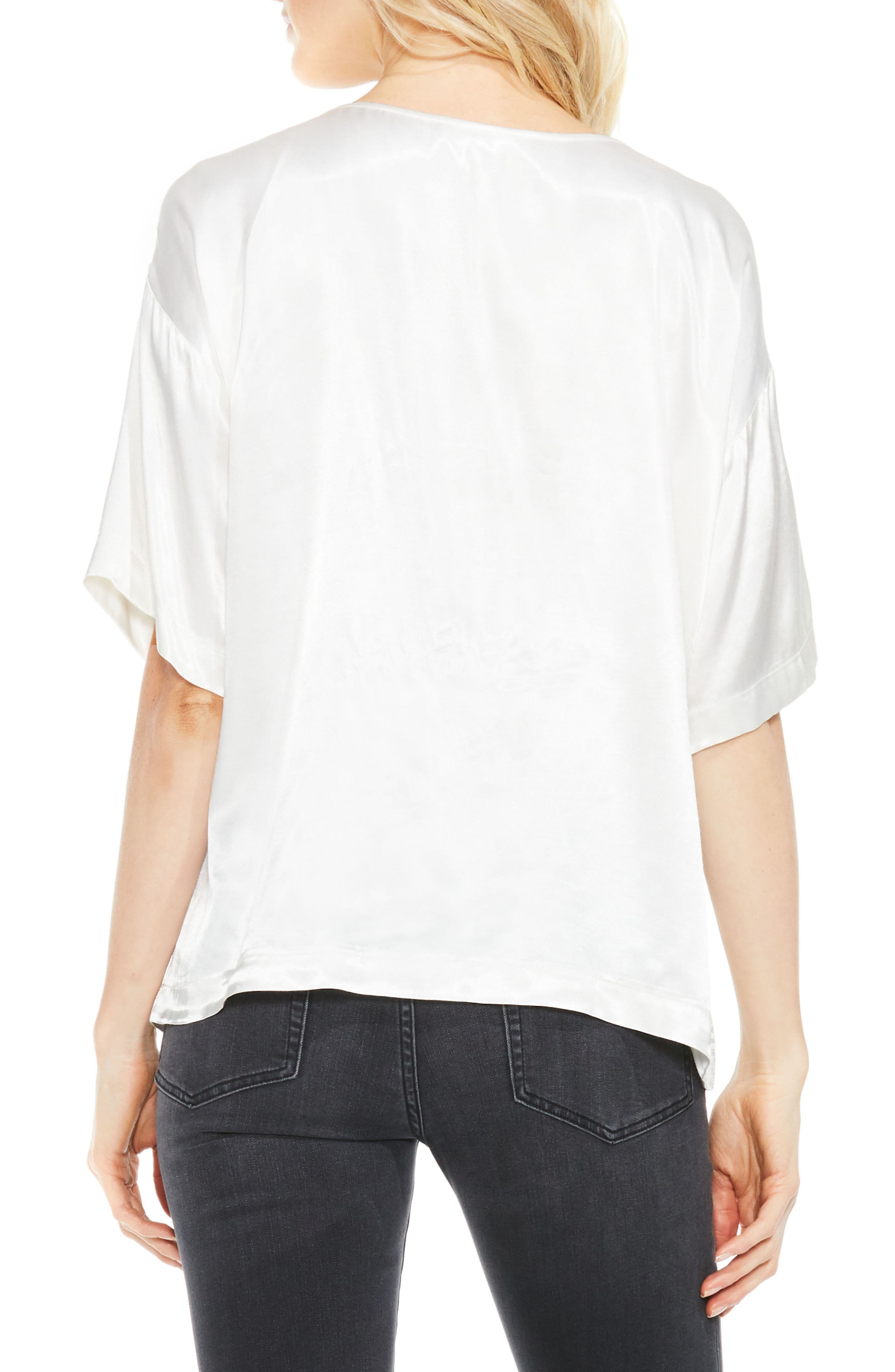 Alternate Image 2  - Two by Vince Camuto Satin Tee