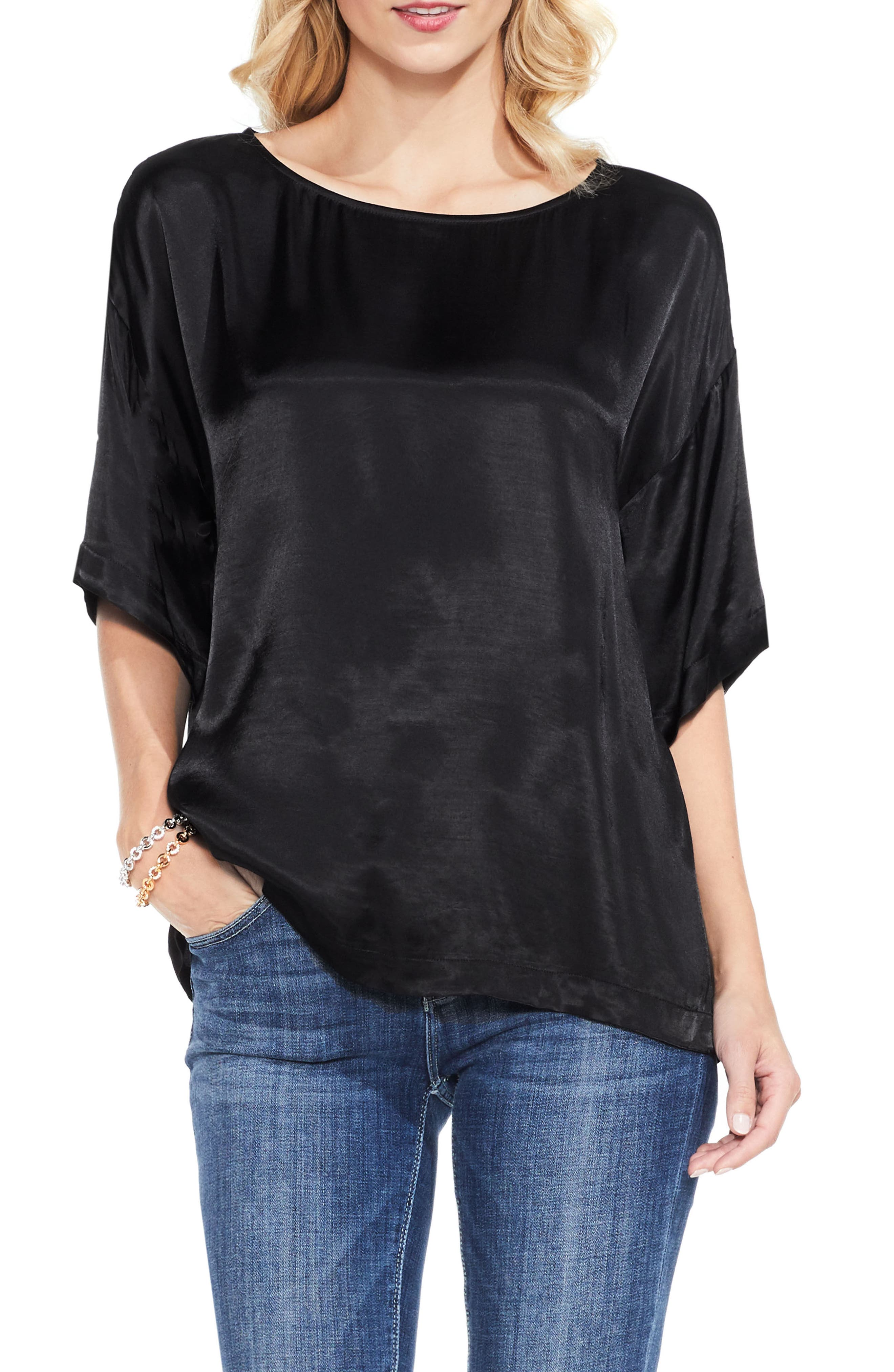 Main Image - Two by Vince Camuto Satin Tee