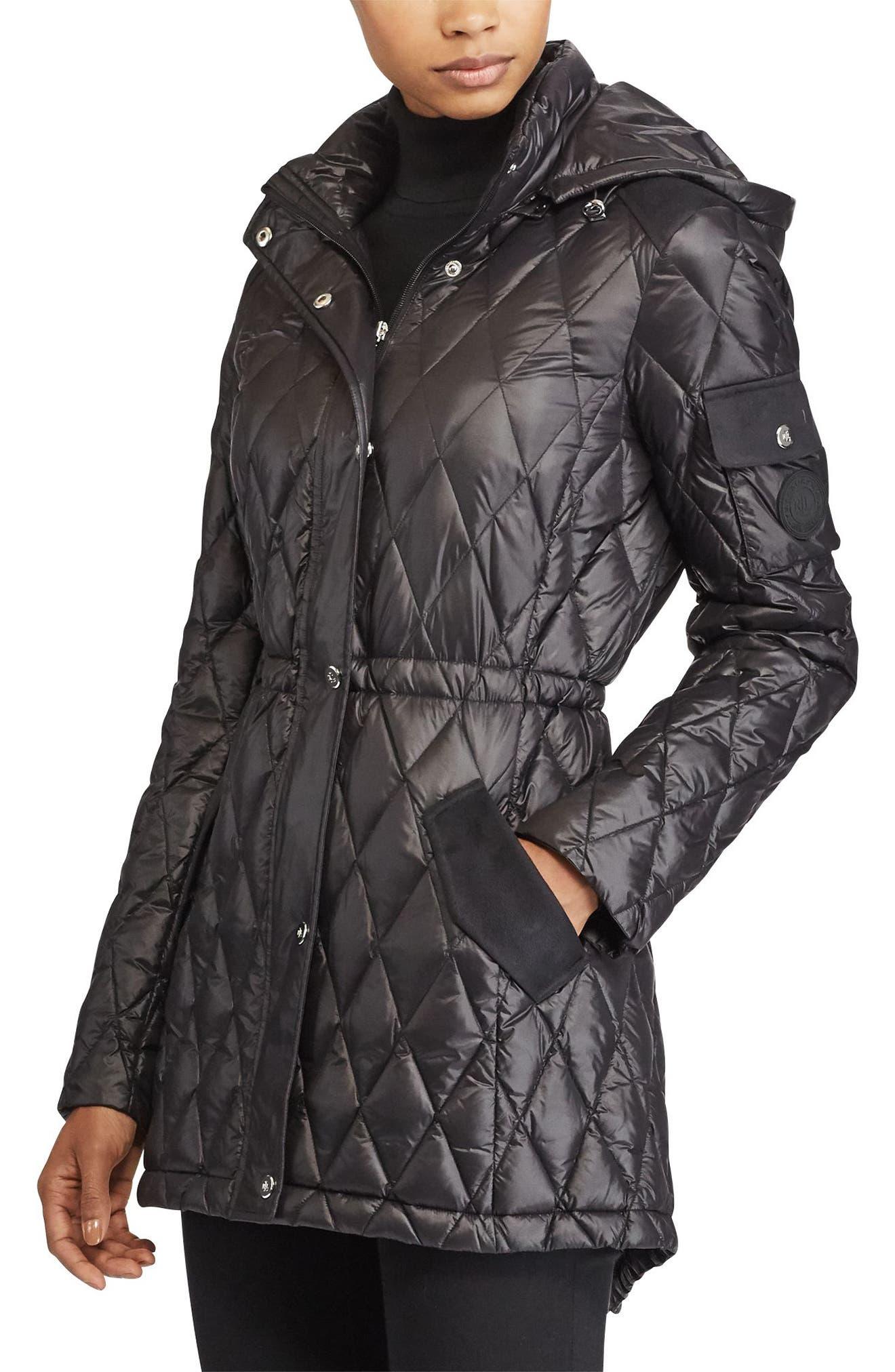 Hooded Anorak,                         Main,                         color, Black
