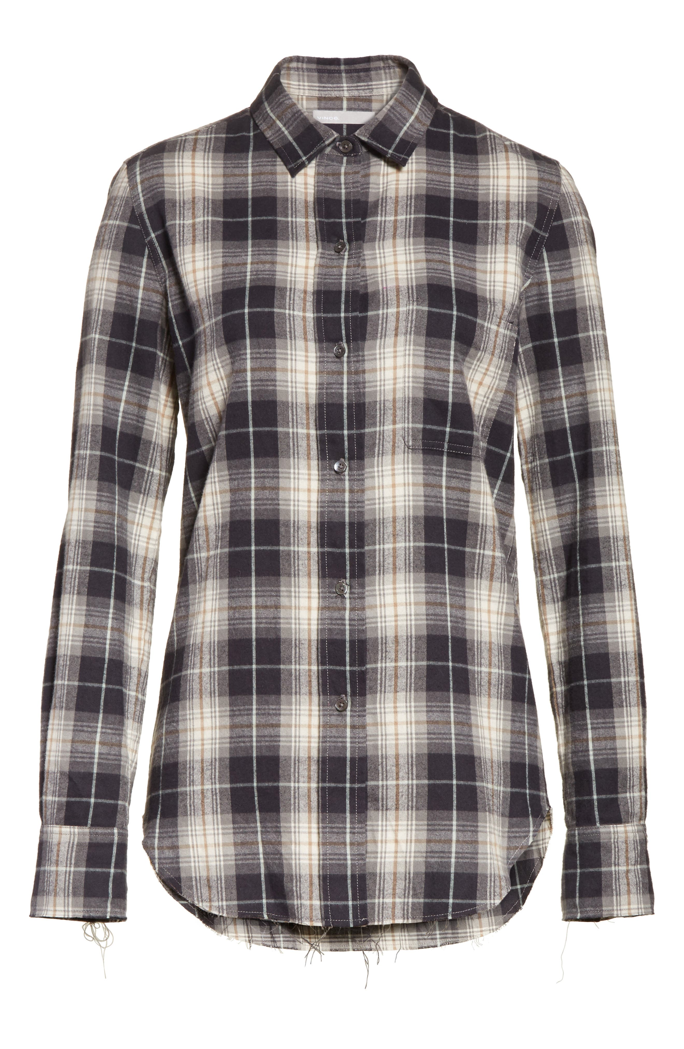 Alternate Image 6  - Vince Tartan Plaid Oversize Shirt