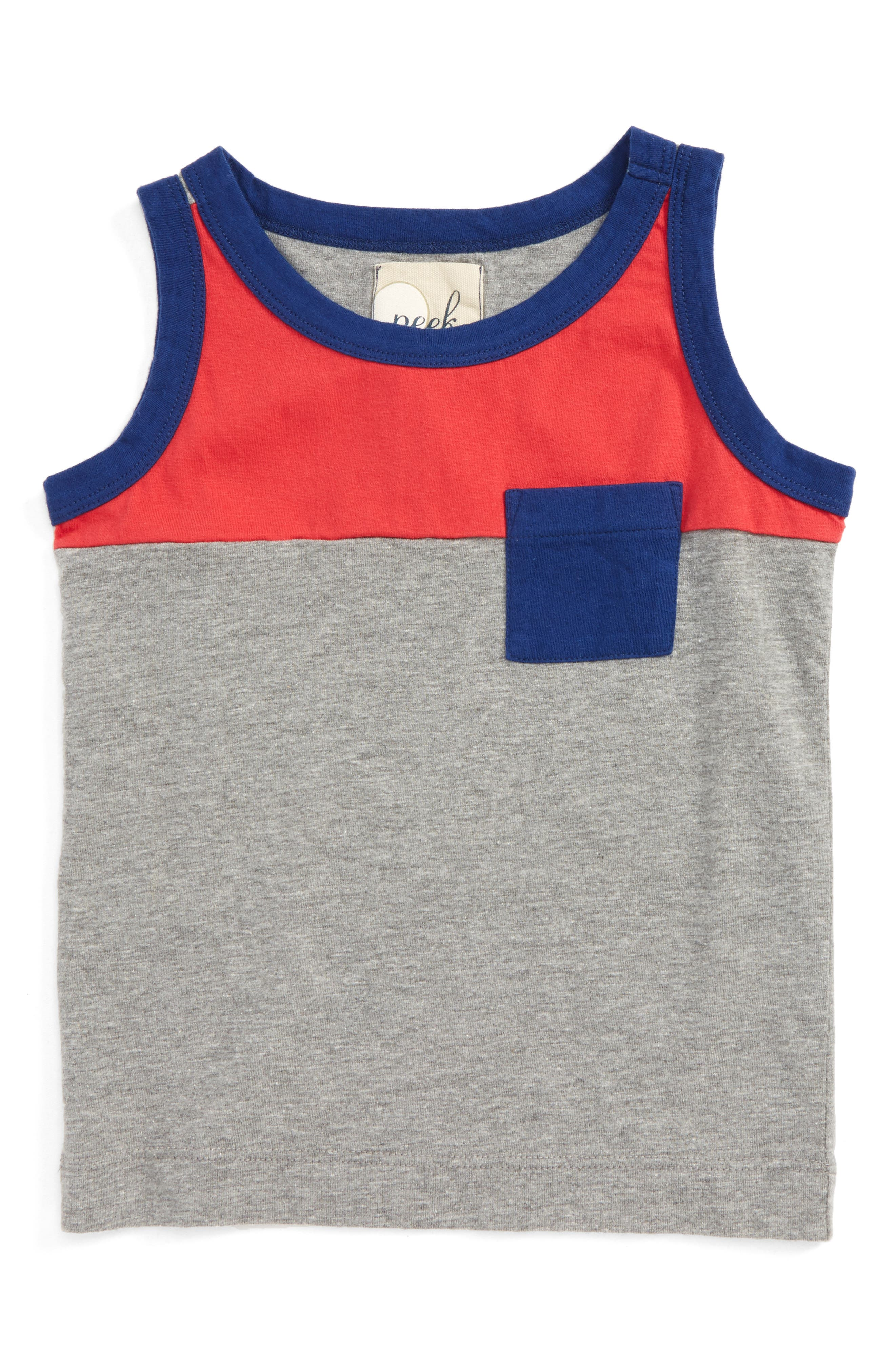 Alternate Image 1 Selected - Peek Colorblock Tank (Toddler Boys, Little Boys & Big Boys)