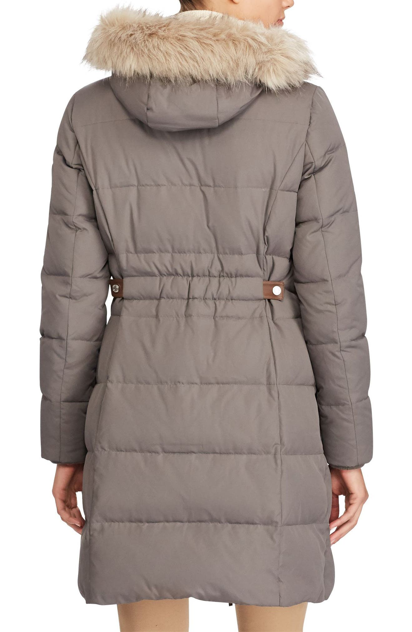 Alternate Image 3  - Lauren Ralph Lauren Quilted Parka (Regular & Petite)