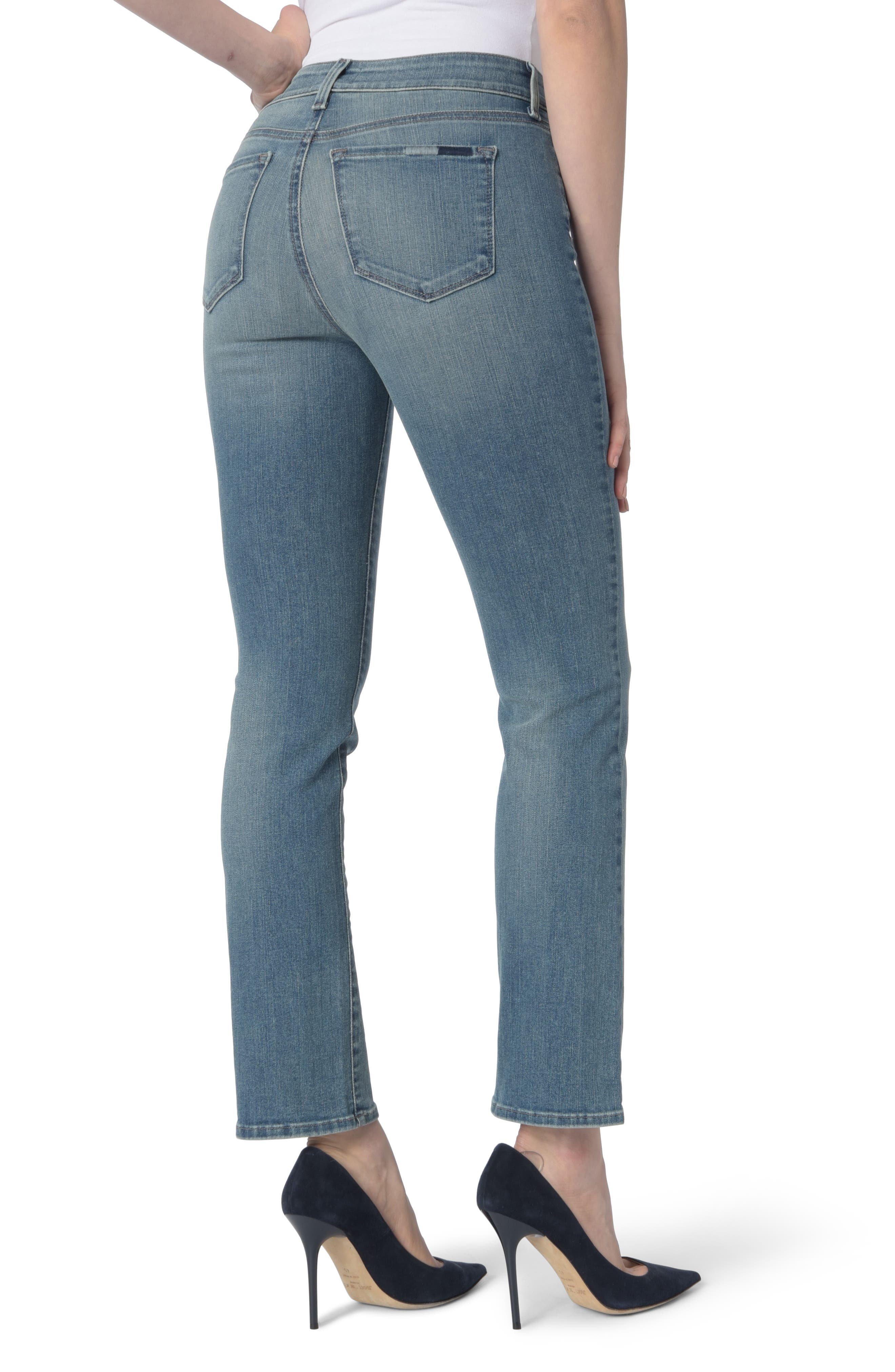 Alternate Image 2  - NYDJ Marilyn Stretch Straight Leg Jeans (Pacific)