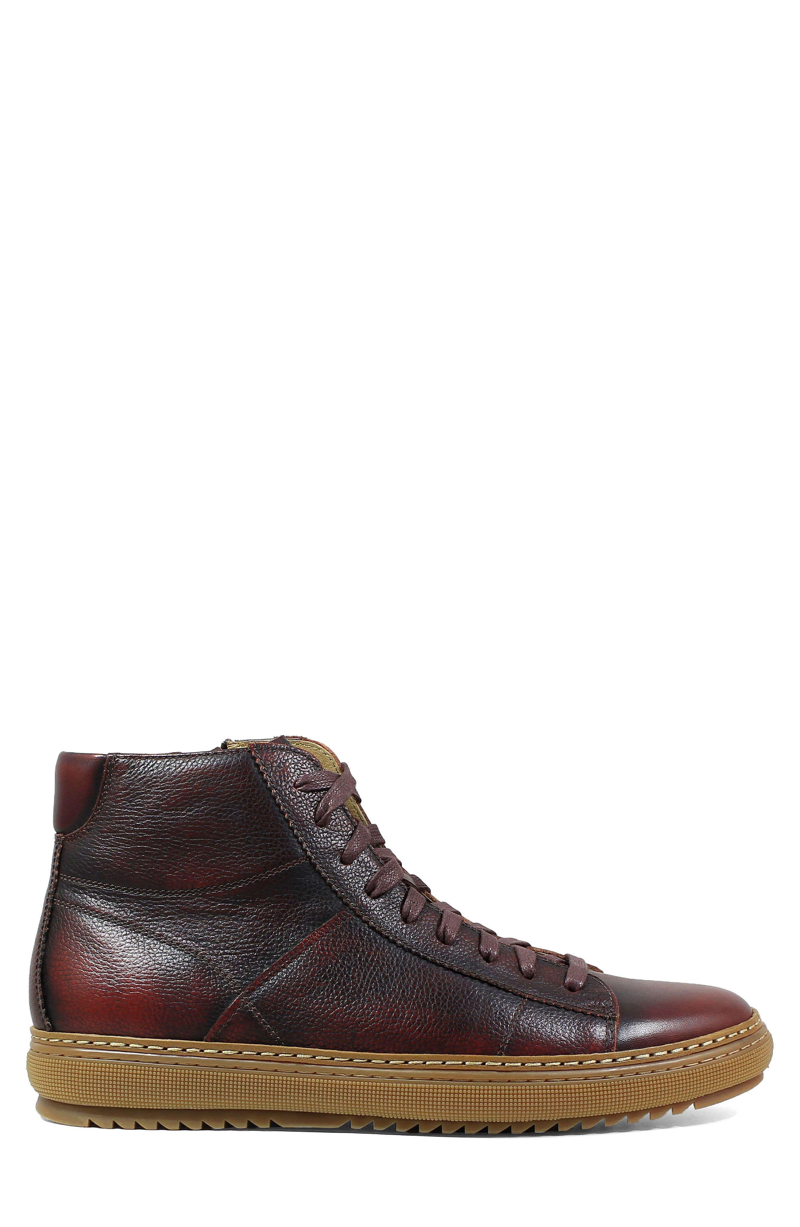 Crew Sneaker,                             Alternate thumbnail 3, color,                             Burgundy