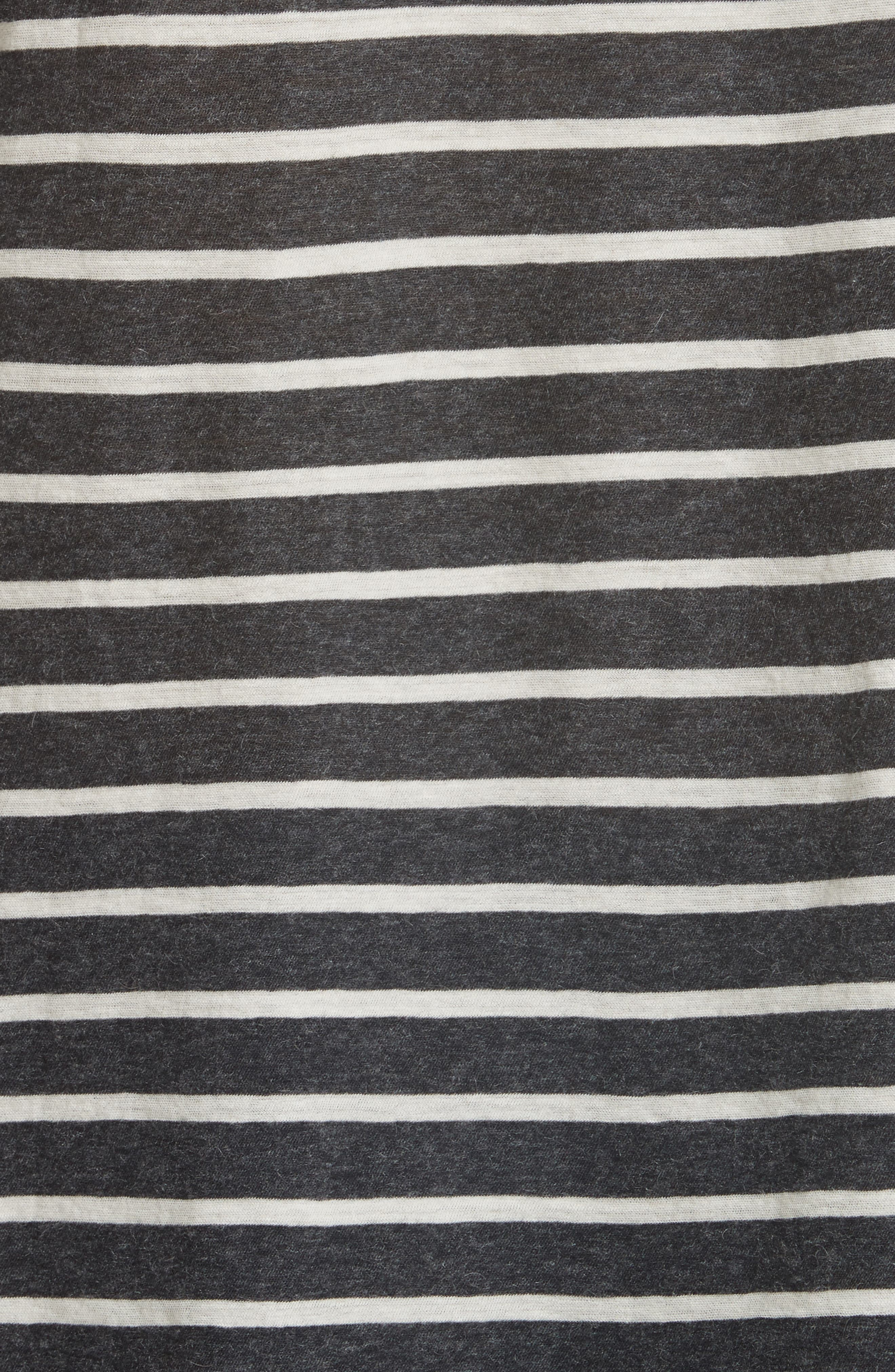 Stripe Cotton & Cashmere Boatneck Top,                             Alternate thumbnail 5, color,                             Anthracite/ Milk
