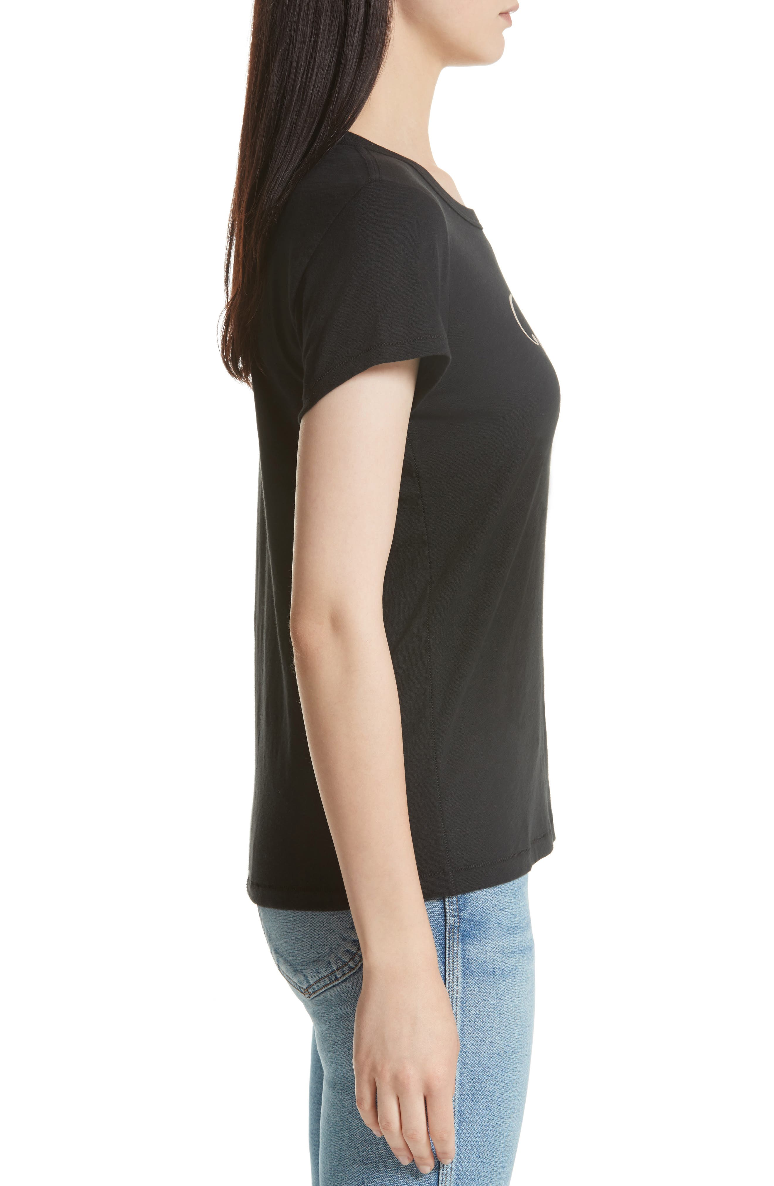 Easy Graphic Tee,                             Alternate thumbnail 3, color,                             Black