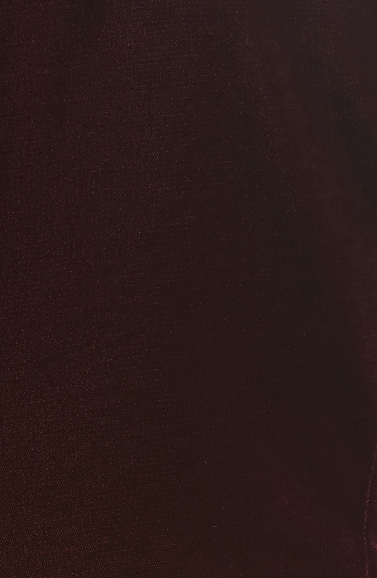 Bonded Velvet Jacket,                             Alternate thumbnail 3, color,                             Burgundy