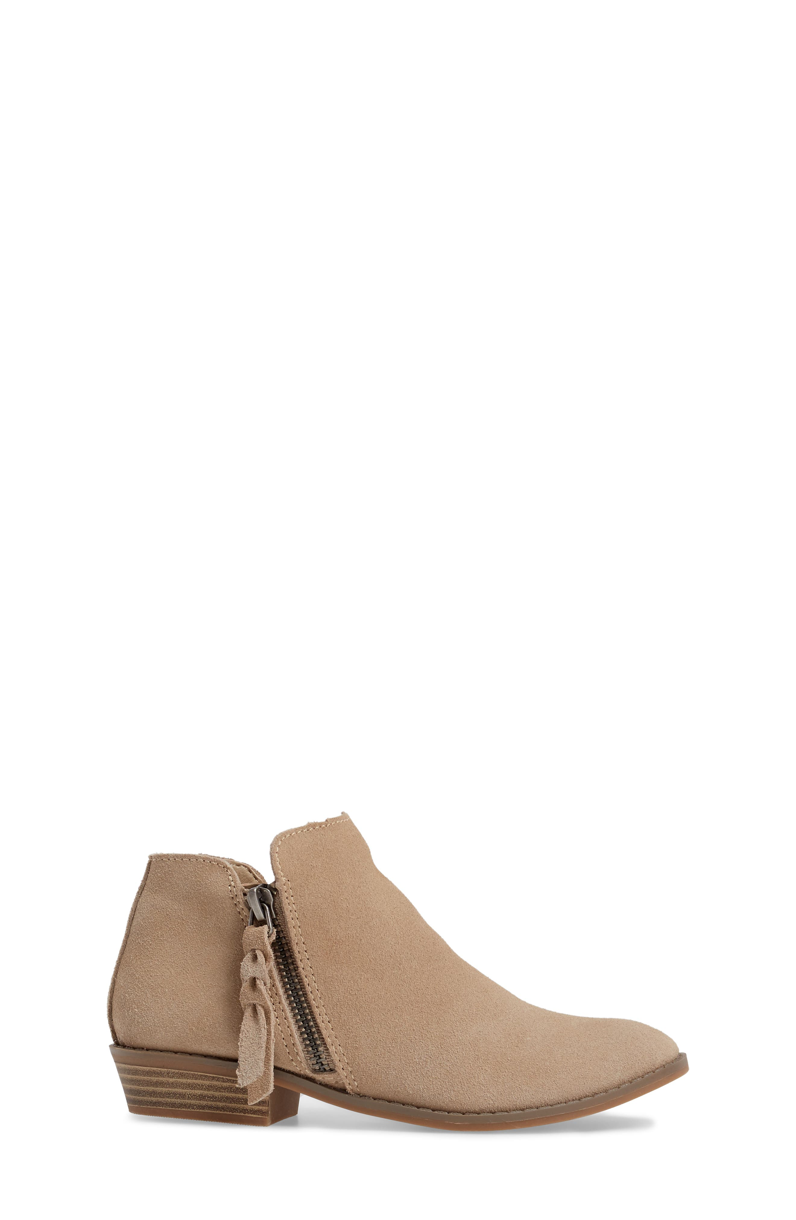Sia Double-Zip Bootie,                             Alternate thumbnail 3, color,                             Sand Suede