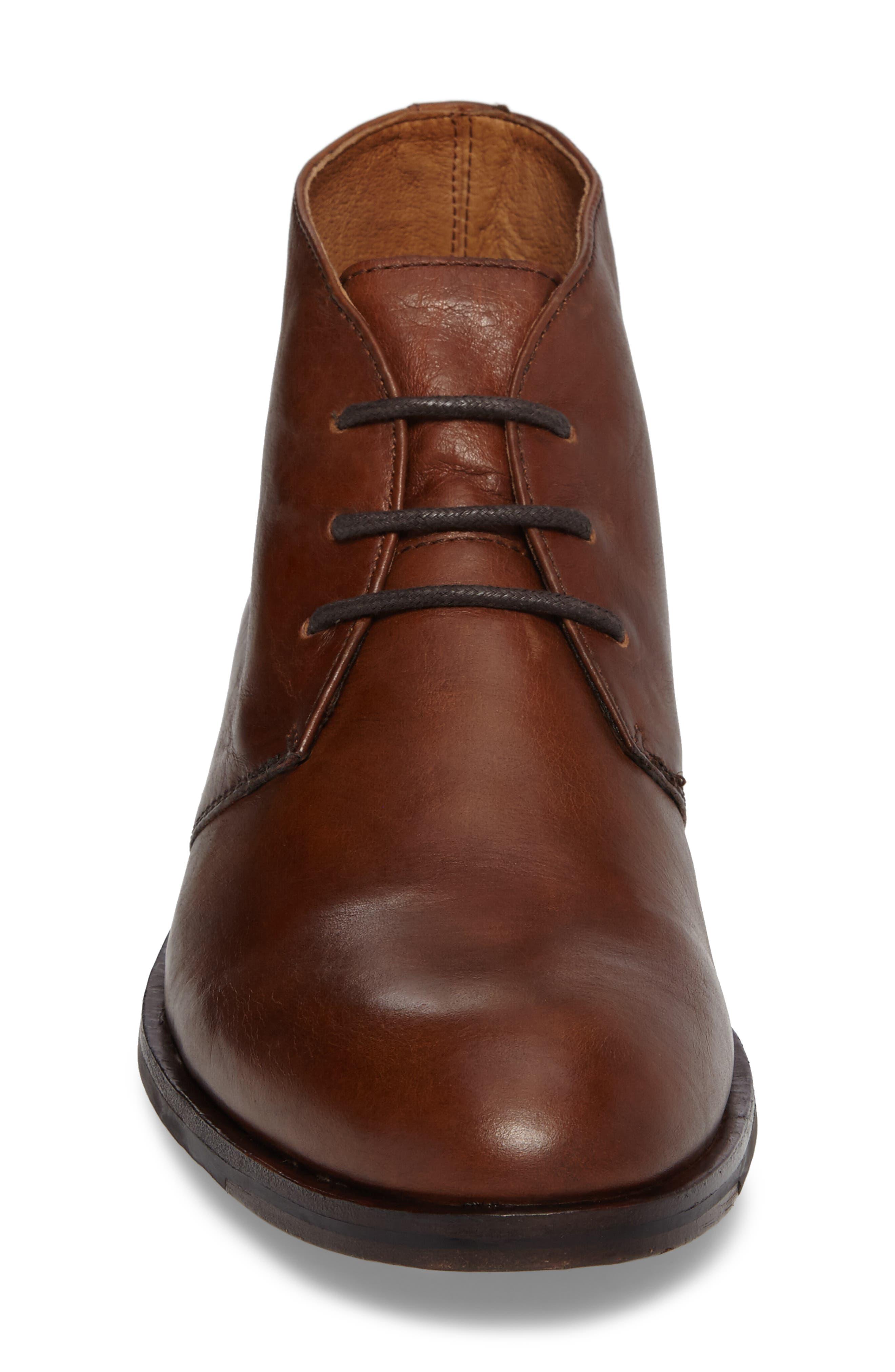 Sam Chukka Boot,                             Alternate thumbnail 4, color,                             Cognac Leather