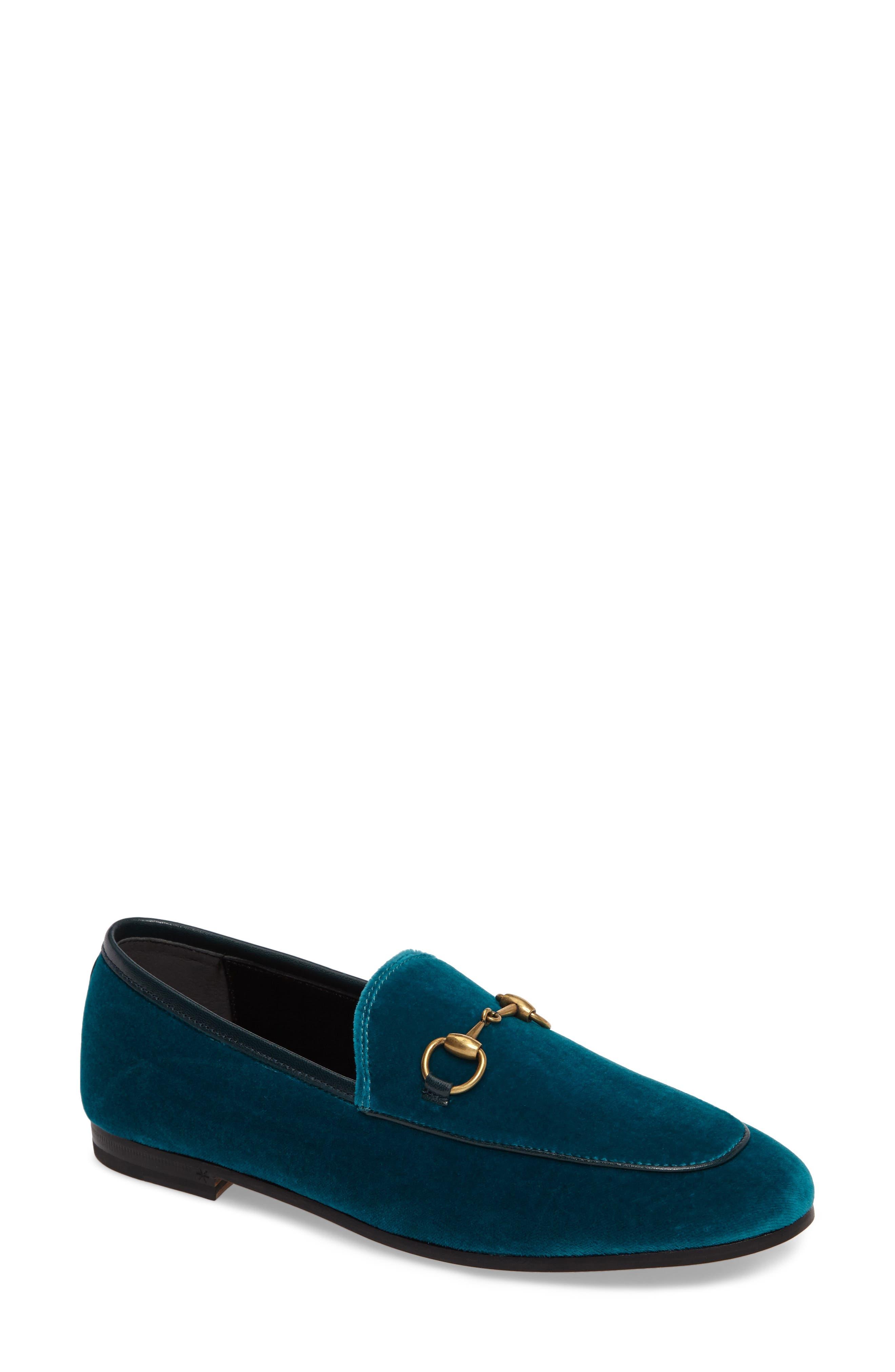 Brixton Velvet Loafer,                             Main thumbnail 1, color,                             Blue Velvet
