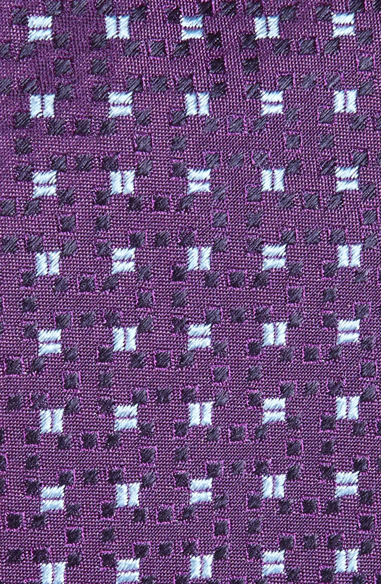 Geometric Silk Tie,                             Alternate thumbnail 2, color,                             Medium Purple