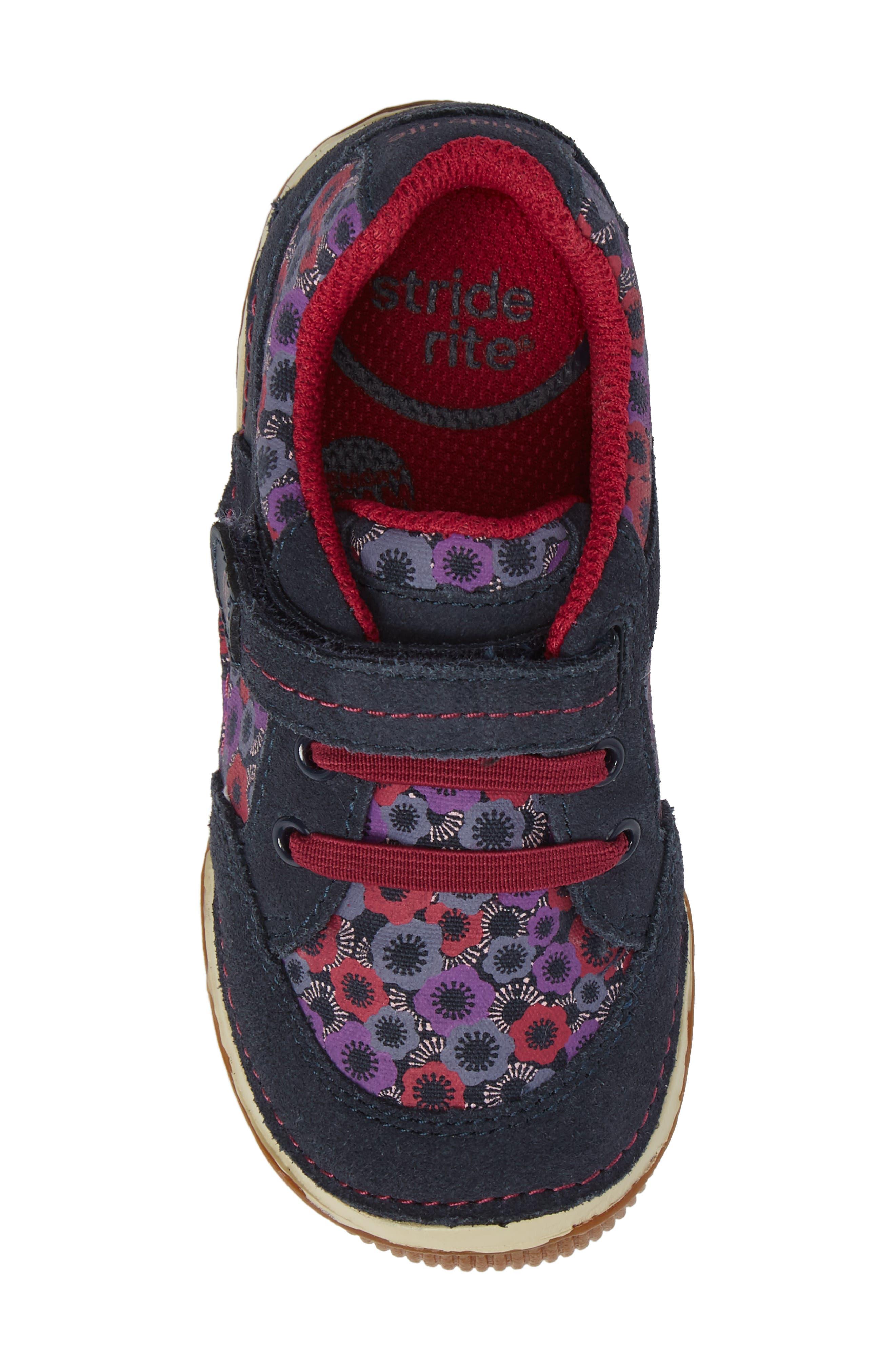 Armorie Flower Print Sneaker,                             Alternate thumbnail 5, color,                             Navy