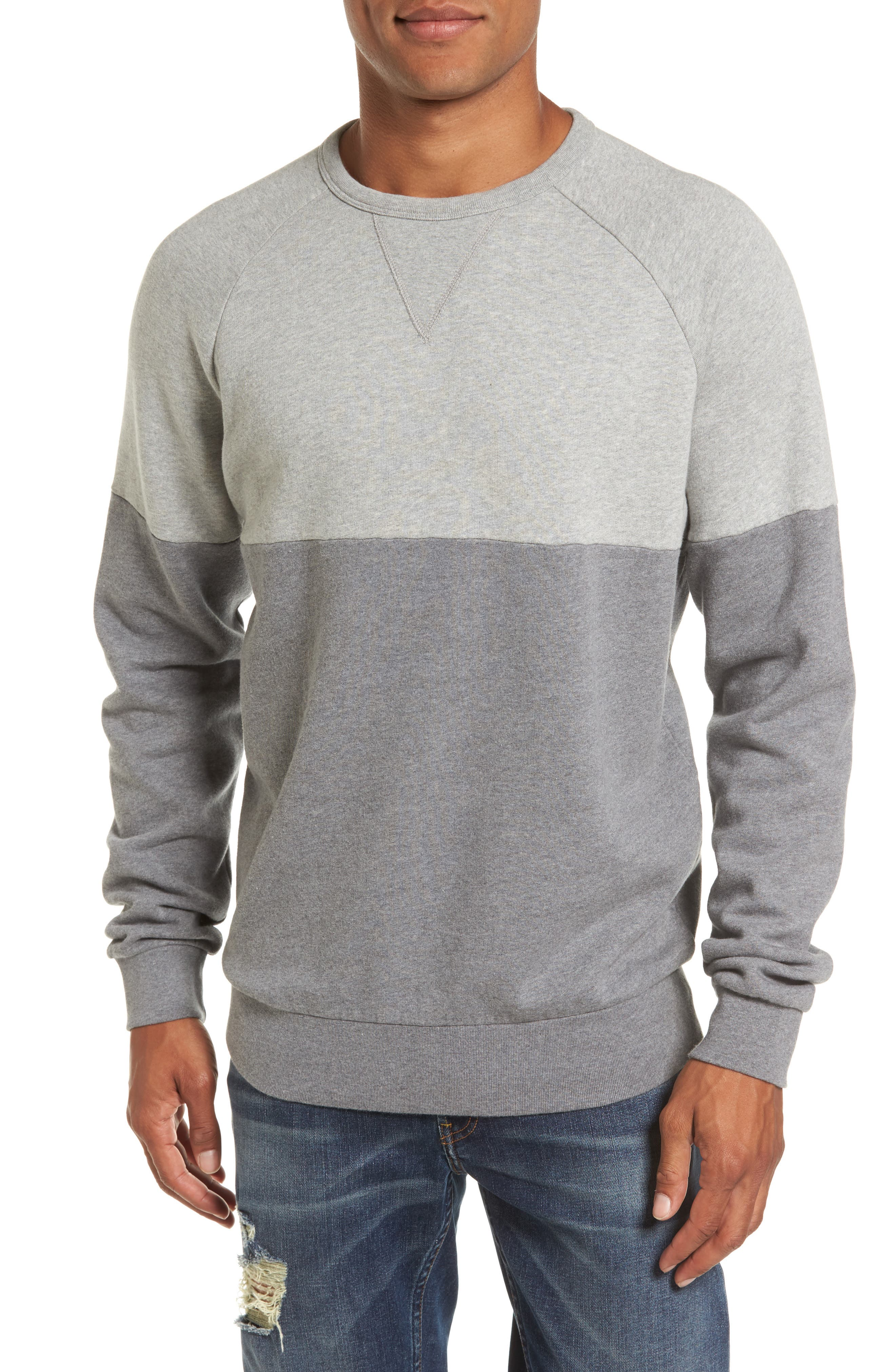 Main Image - French Connection Multi Mélange Colorblock Sweatshirt