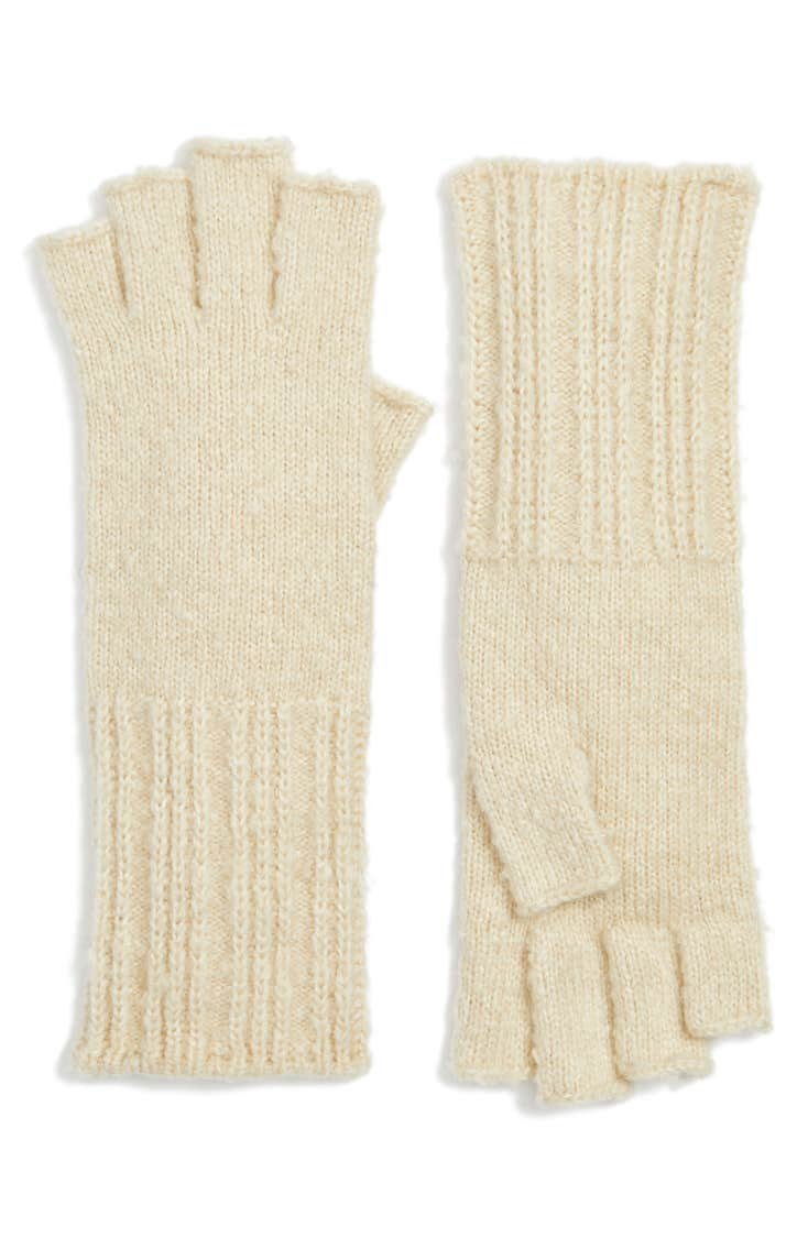 Rib Knit Fingerless Gloves