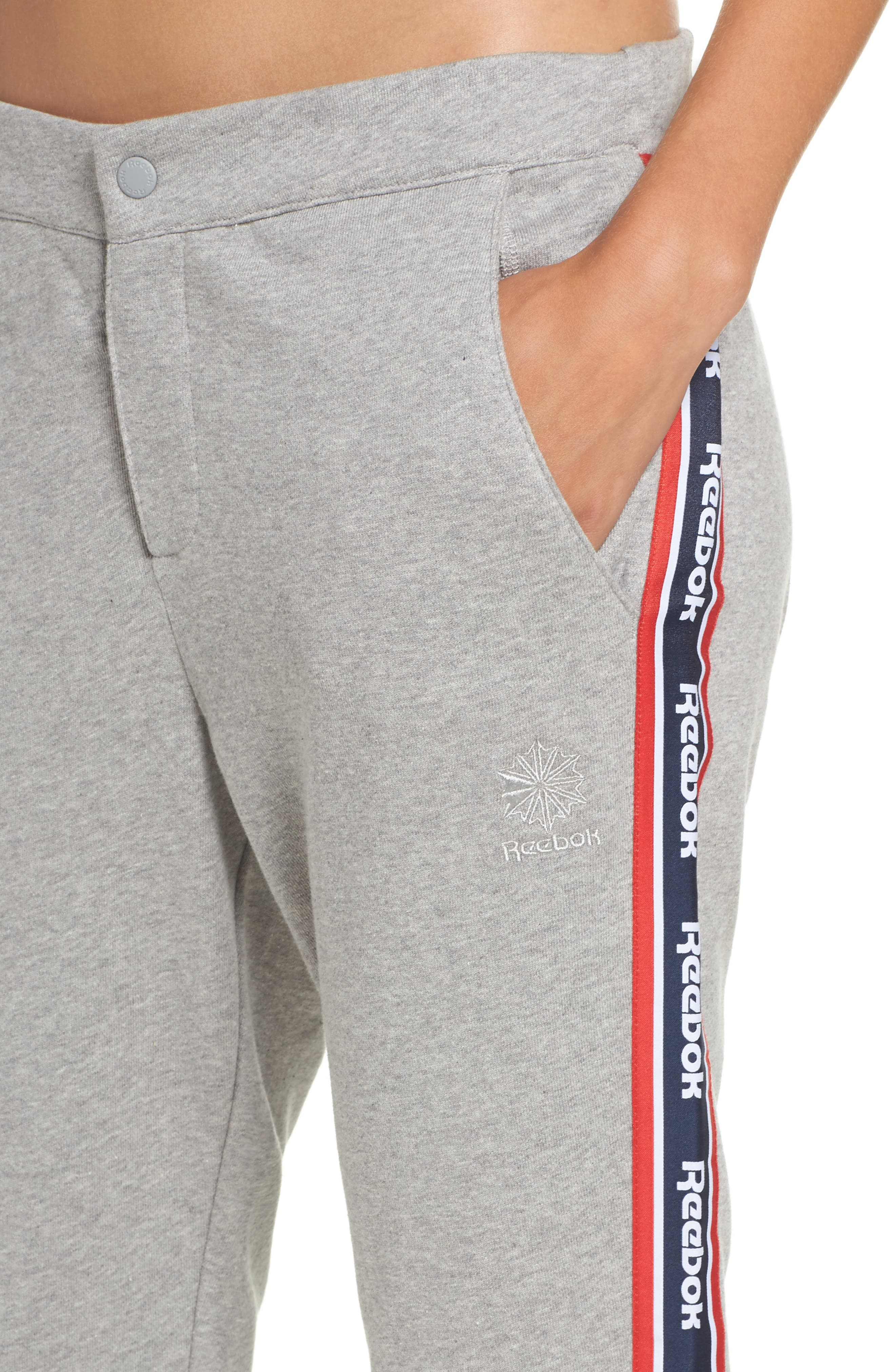 French Terry Pants,                             Alternate thumbnail 4, color,                             Medium Grey Heather