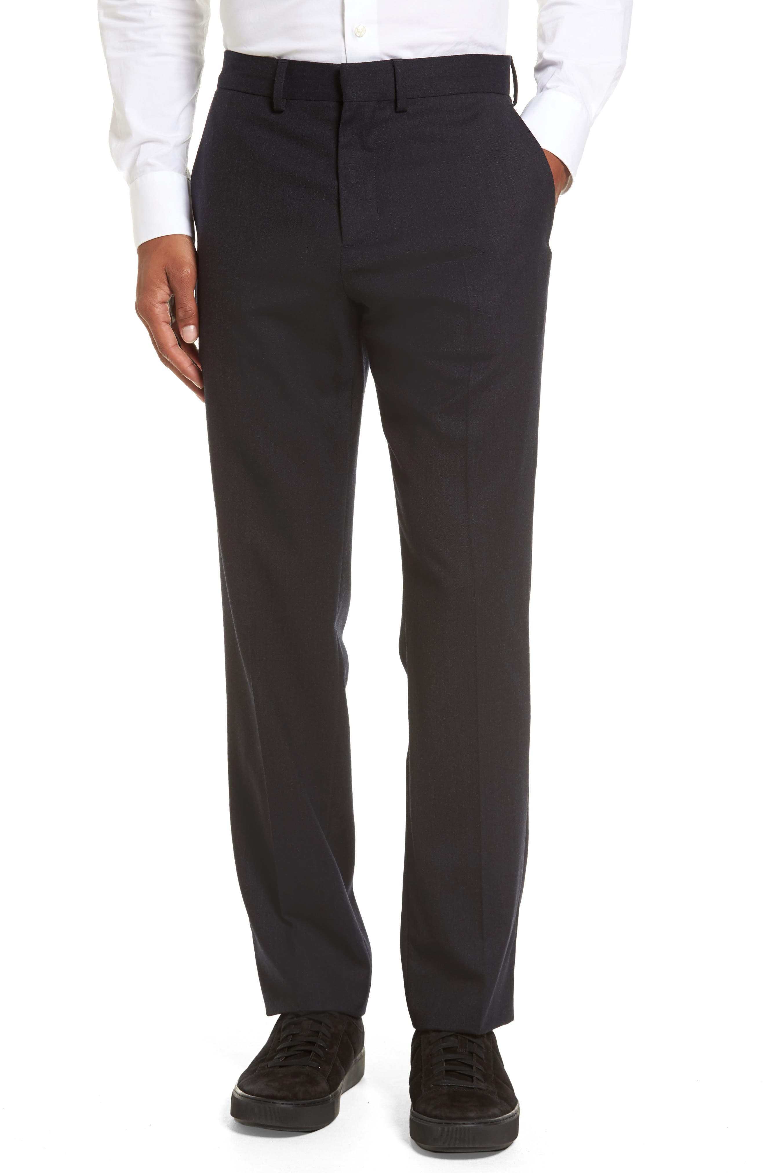 Vince Regular Fit Wool Trousers
