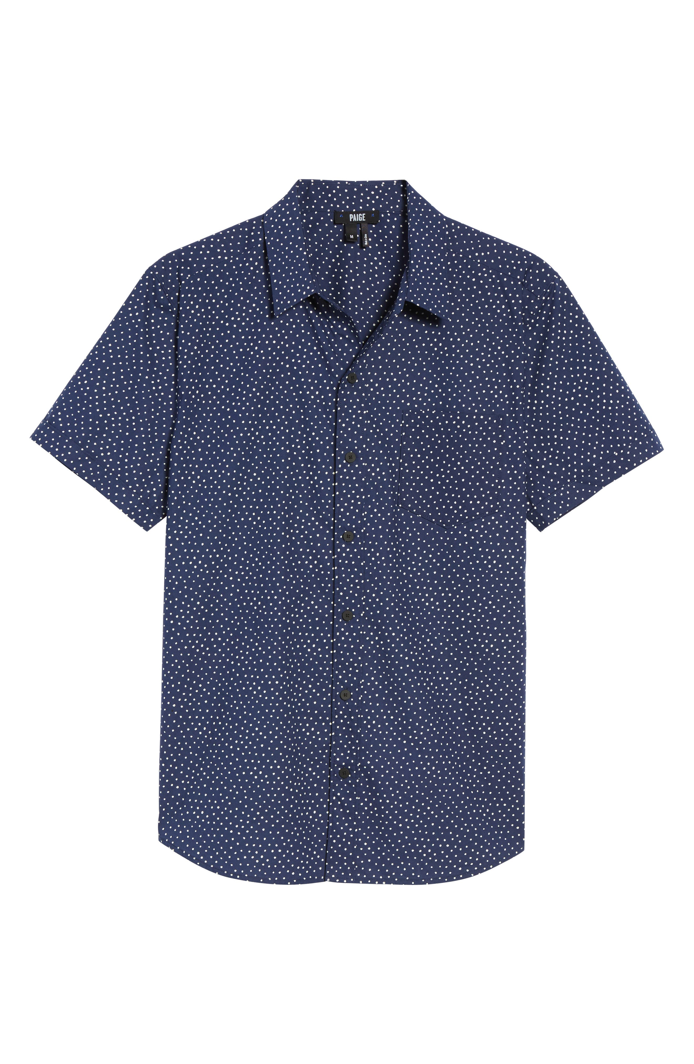 Alternate Image 5  - PAIGE Becker Dot Print Woven Shirt