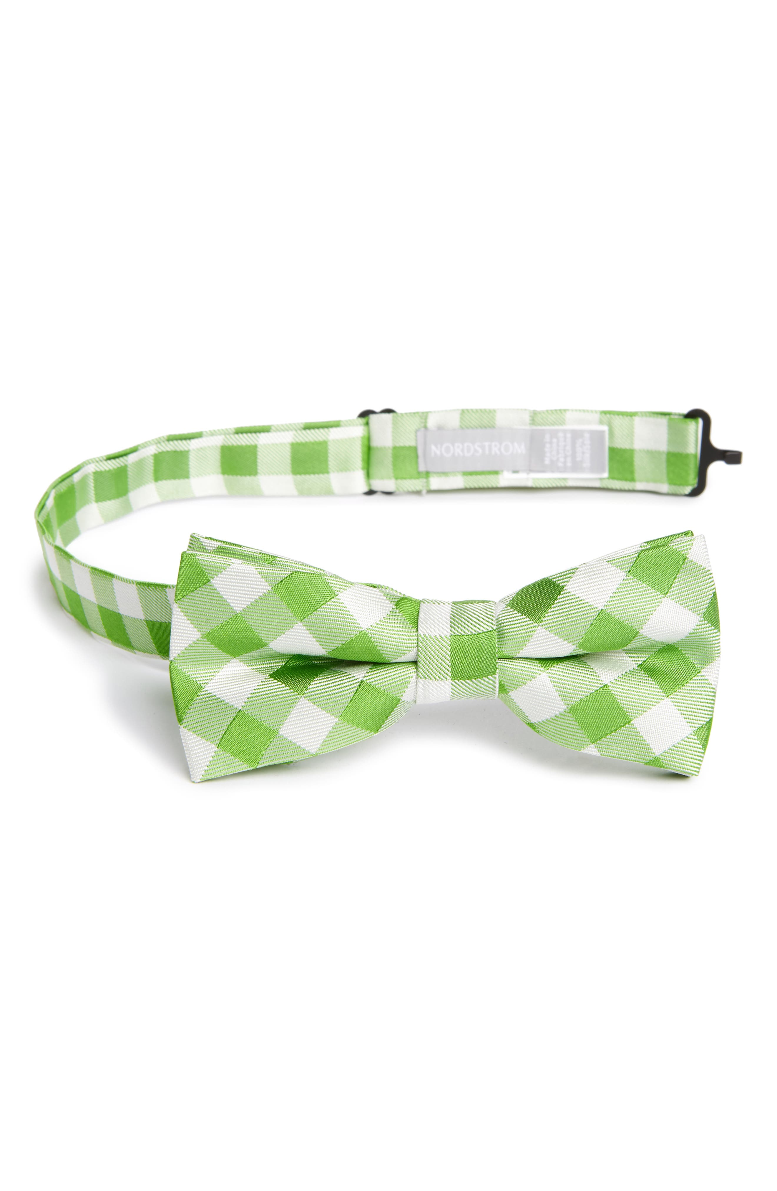 Alternate Image 1 Selected - Nordstrom Plaid Silk Bow Tie (Big Boys)