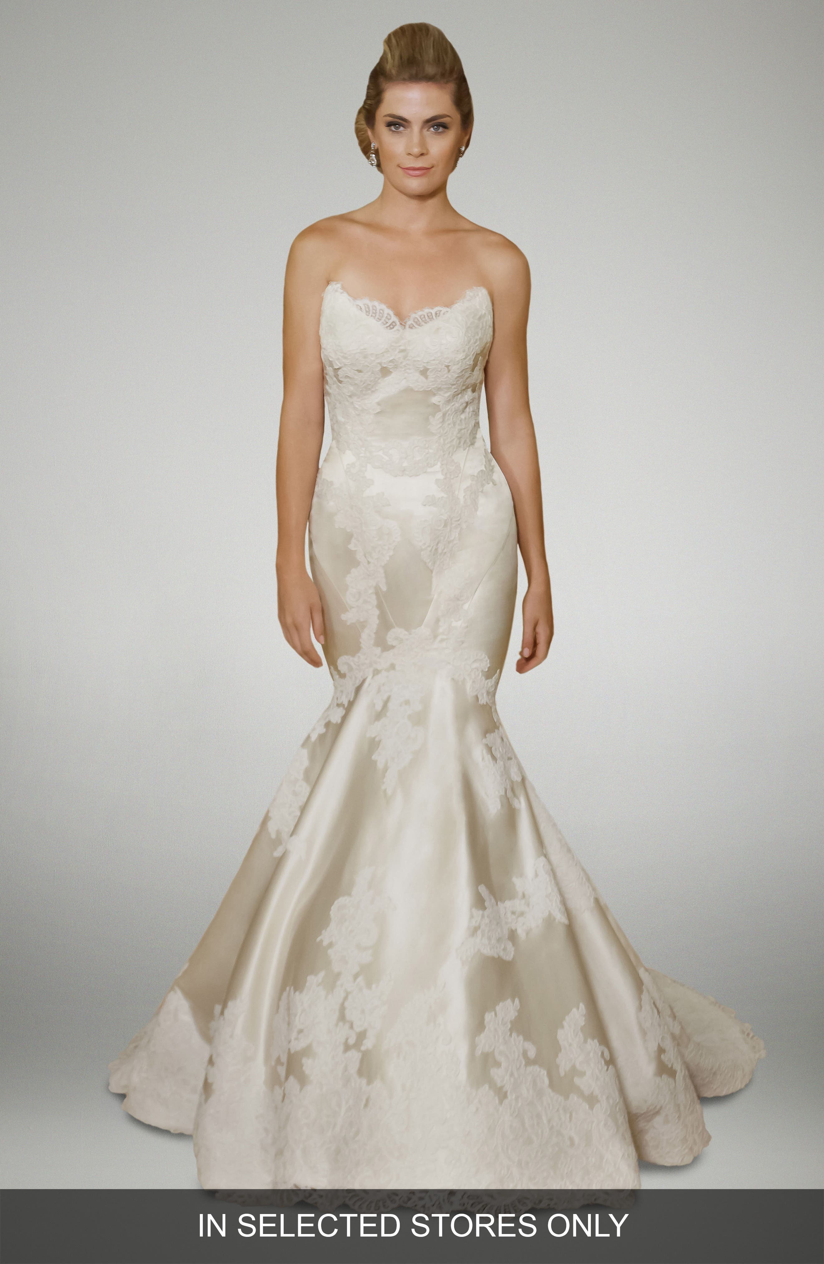 Matthew Christopher Duchess Trumpet Gown
