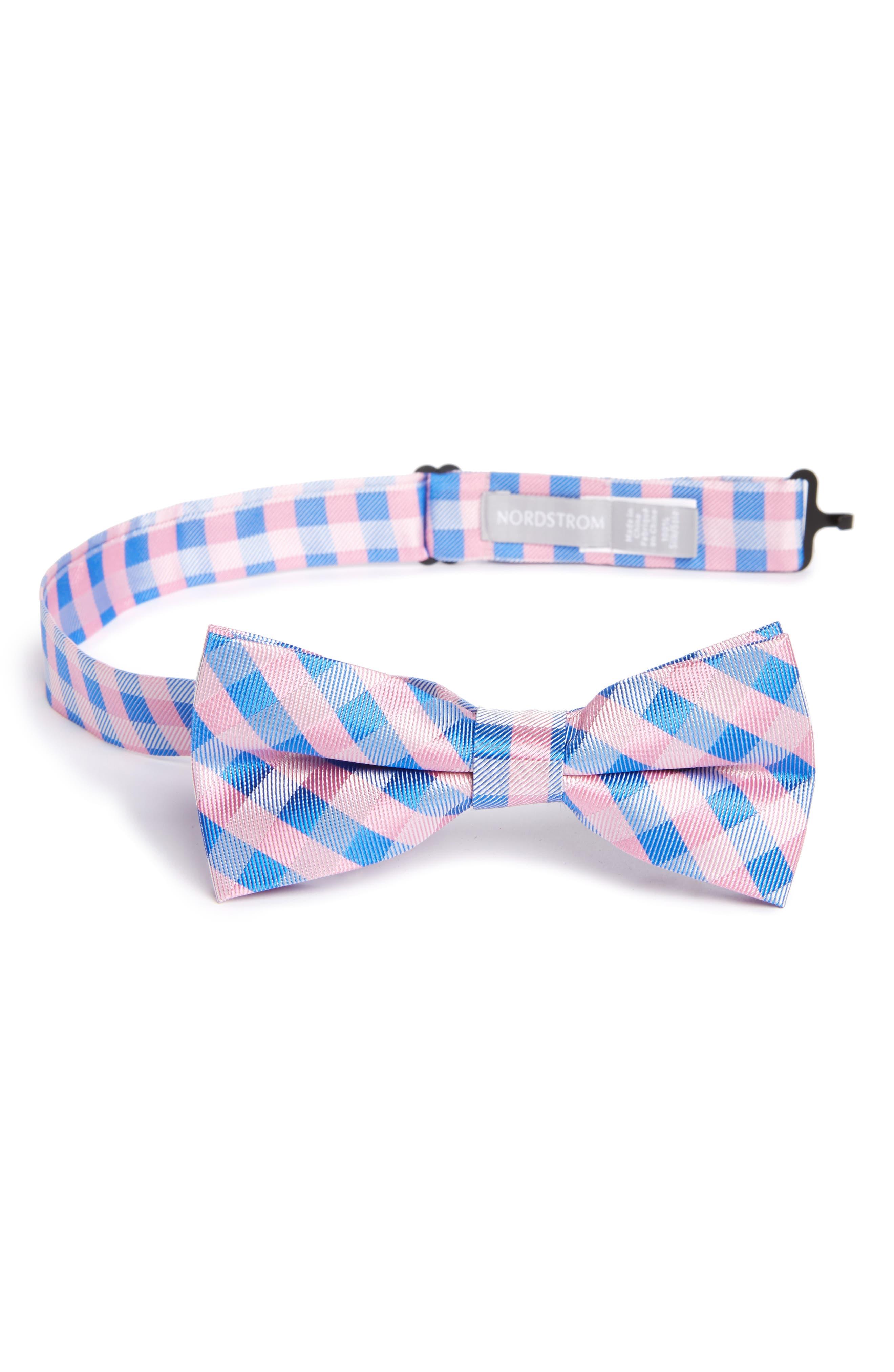 Main Image - Nordstrom Plaid Silk Bow Tie (Big Boys)