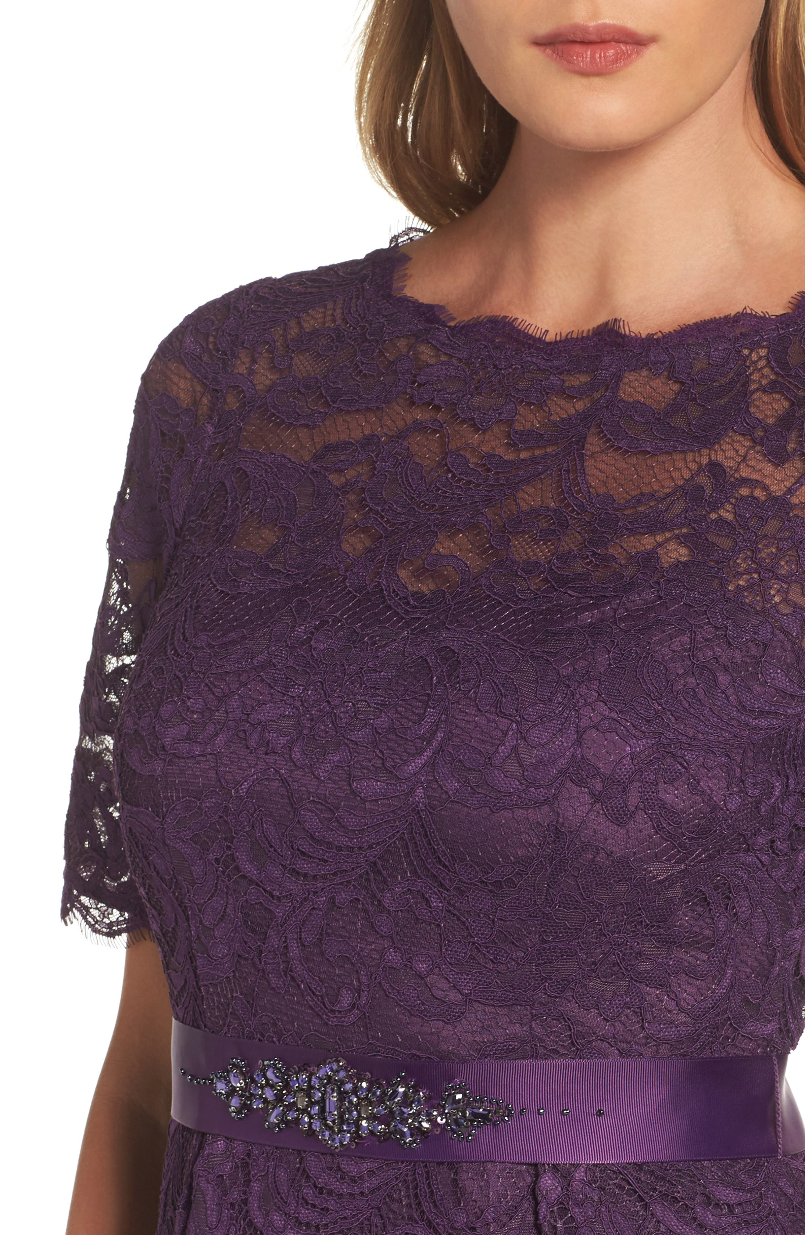 Alternate Image 4  - Adrianna Papell High/Low Lace Dress