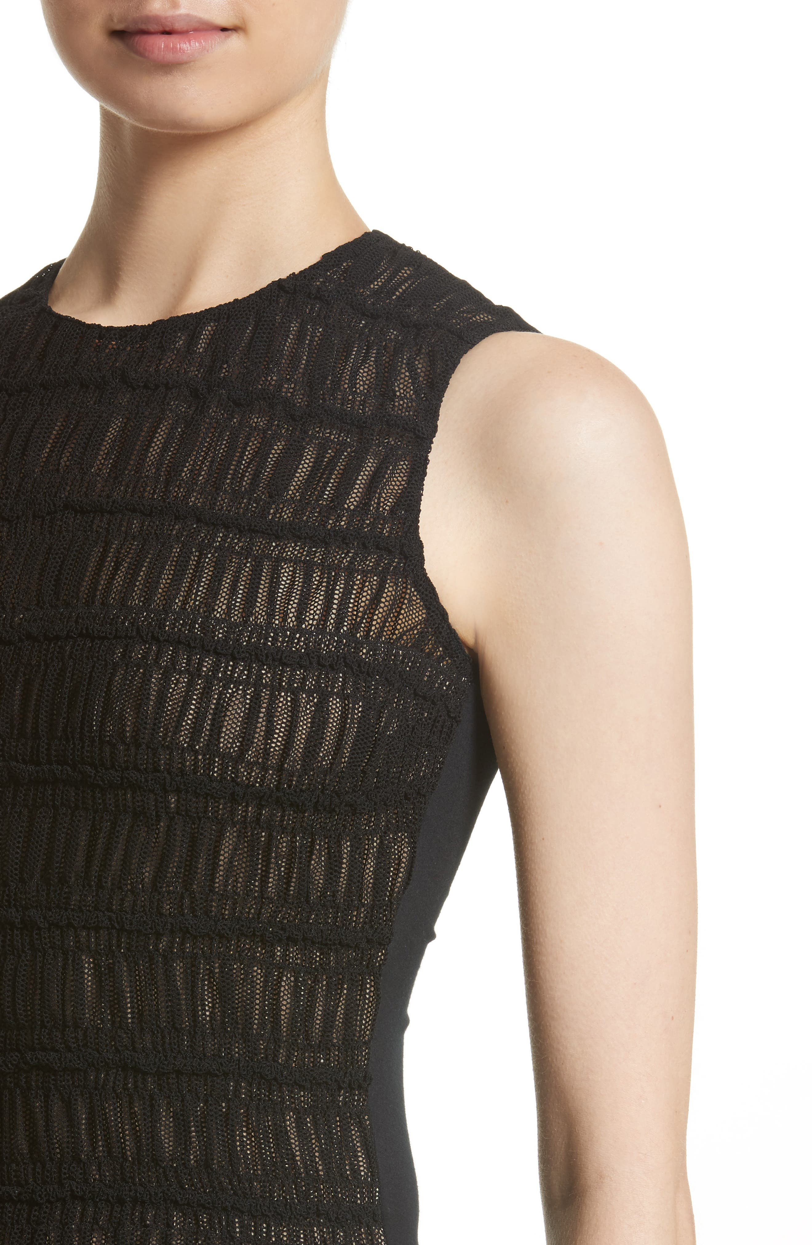 Alternate Image 4  - Akris punto Smocked Ruffle Tulle Front Top