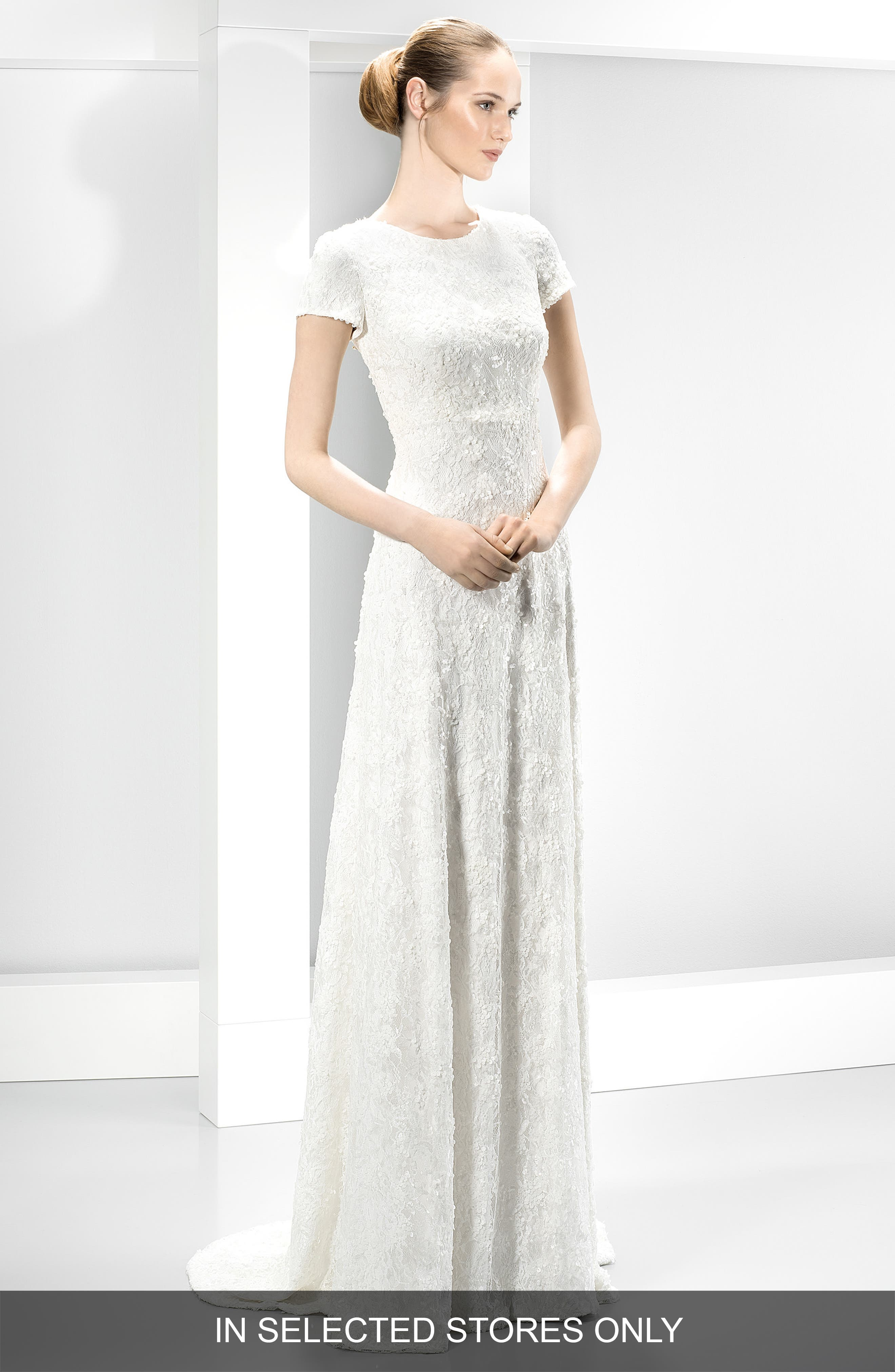 Jesús Peiró Embellished Embroidered Cap Sleeve Dress (In Stores Only)