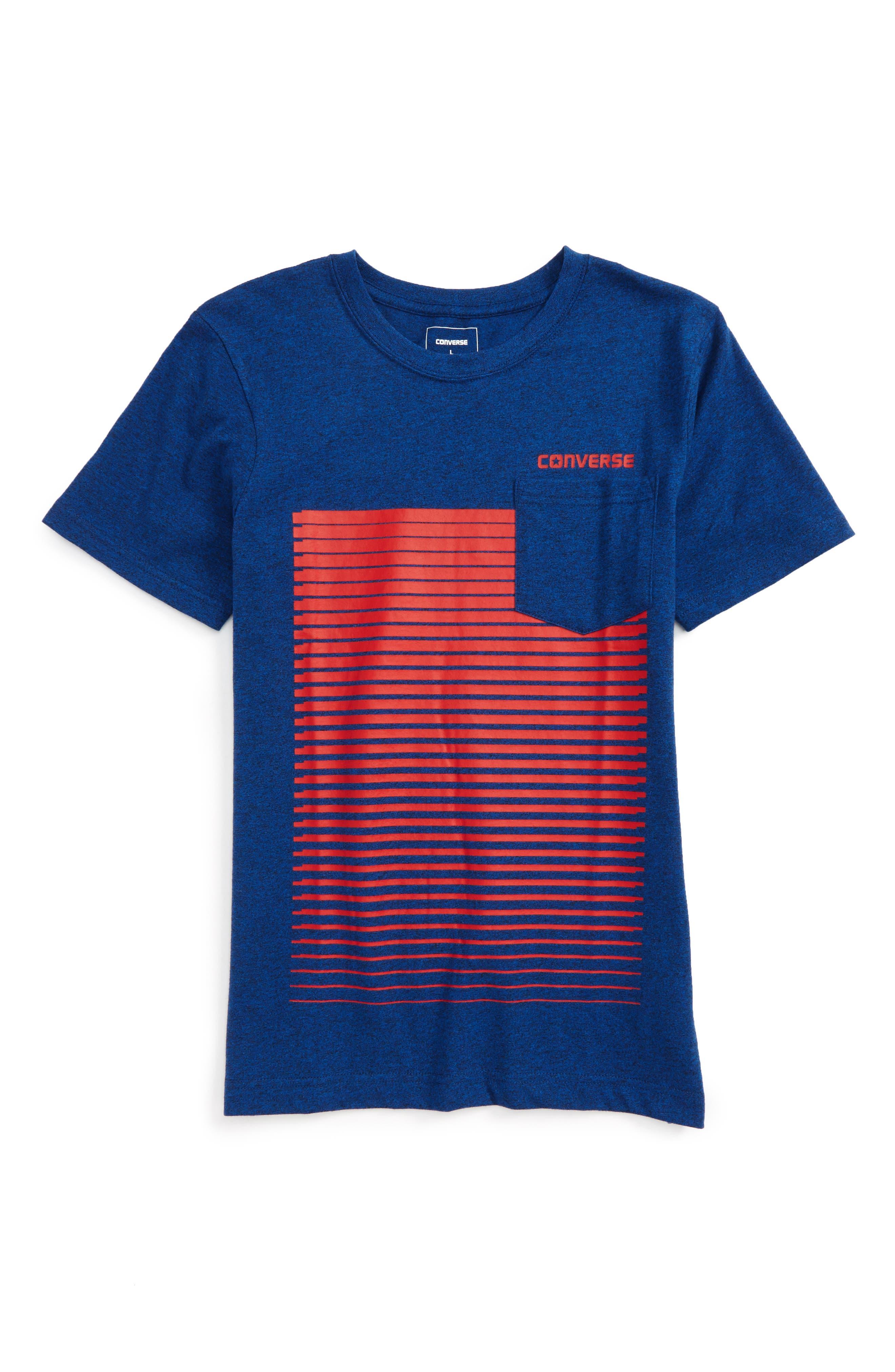 Alternate Image 1 Selected - Converse Linear Ombré Pocket T-Shirt (Big Boys)