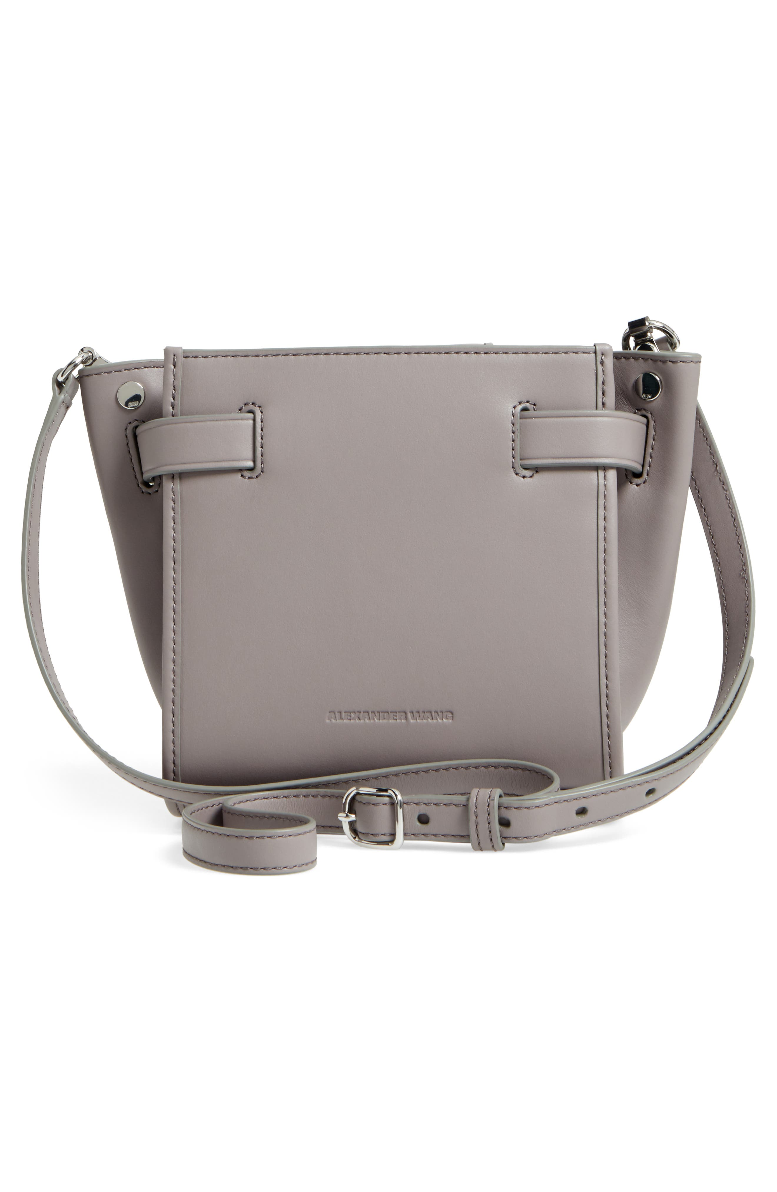 Mini Attica Patchwork Leather Satchel,                             Alternate thumbnail 3, color,                             Grey Multi