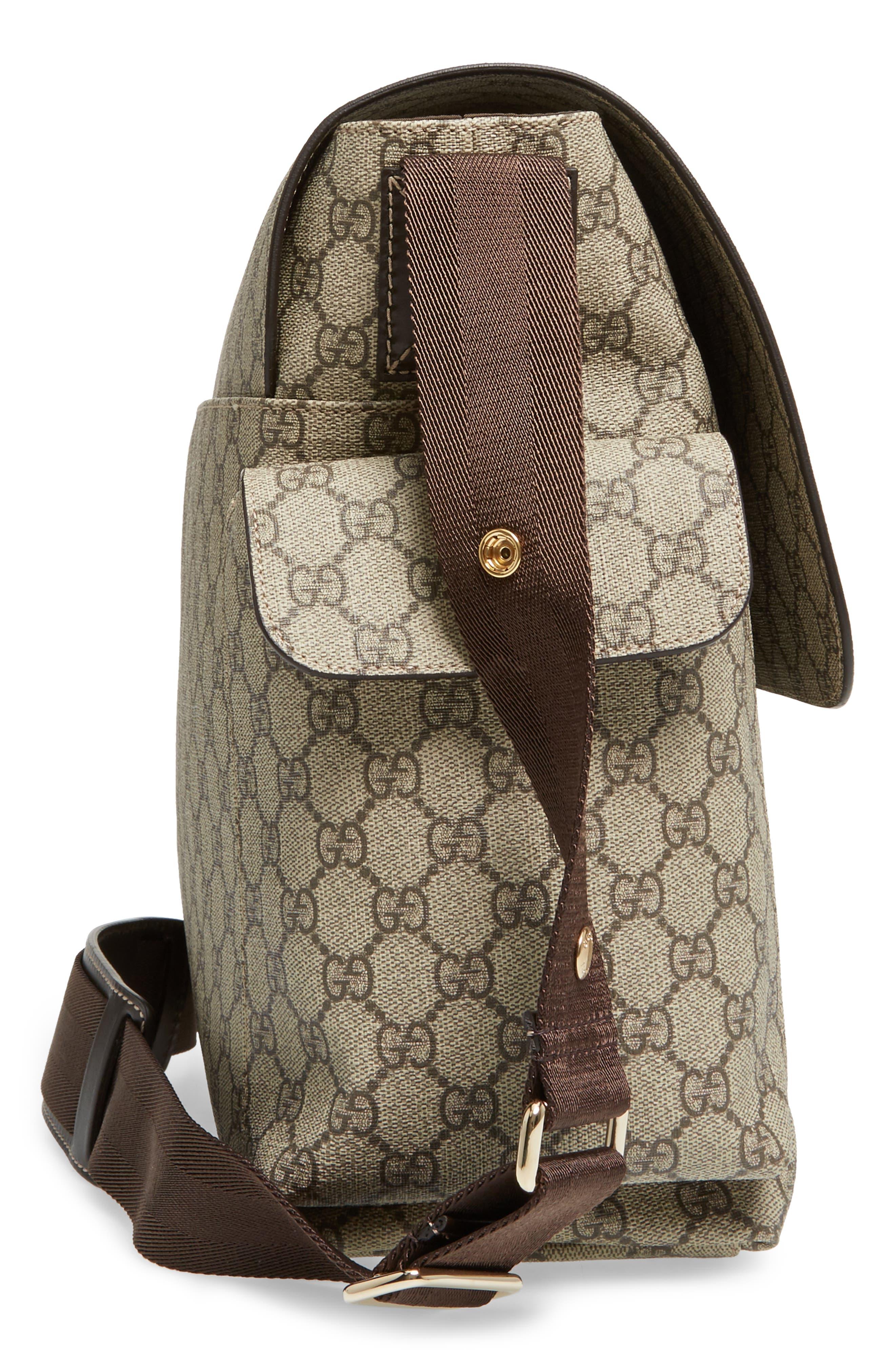 Diaper Messenger Bag,                             Alternate thumbnail 5, color,                             Beige/ Cocoa