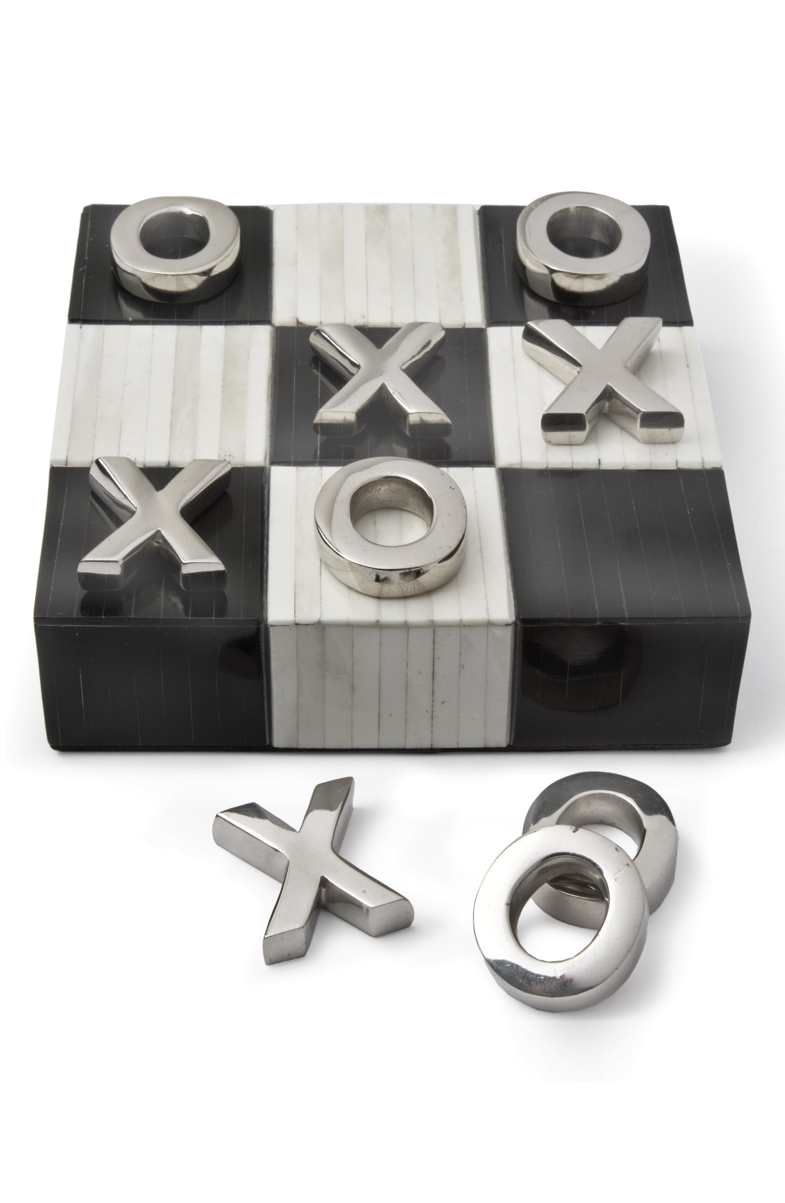 Tic Tac Toe Game,                         Main,                         color, Black And White