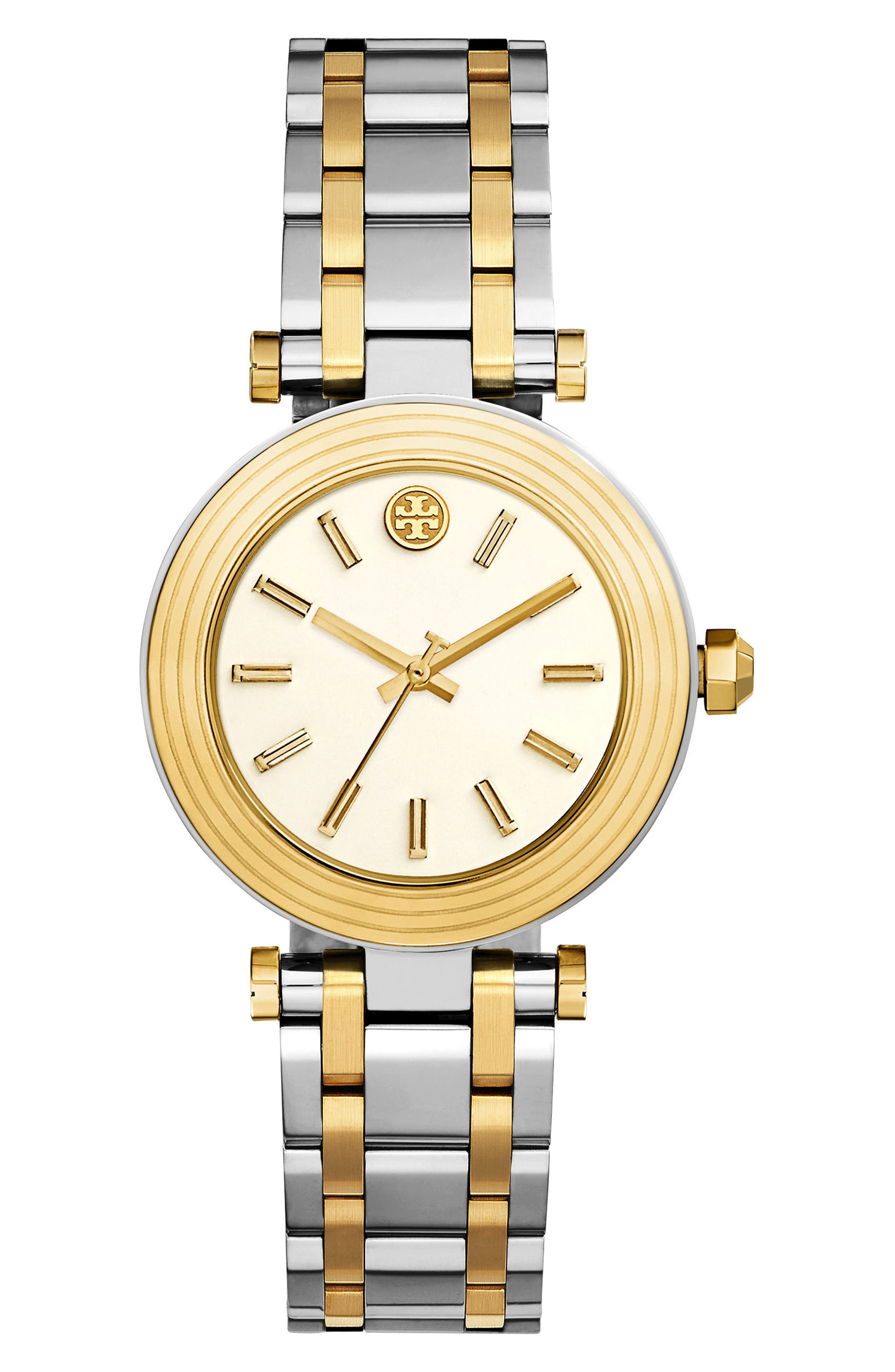 Classic-T Bracelet Watch, 36mm,                             Main thumbnail 1, color,                             Silver/ Ivory/ Gold