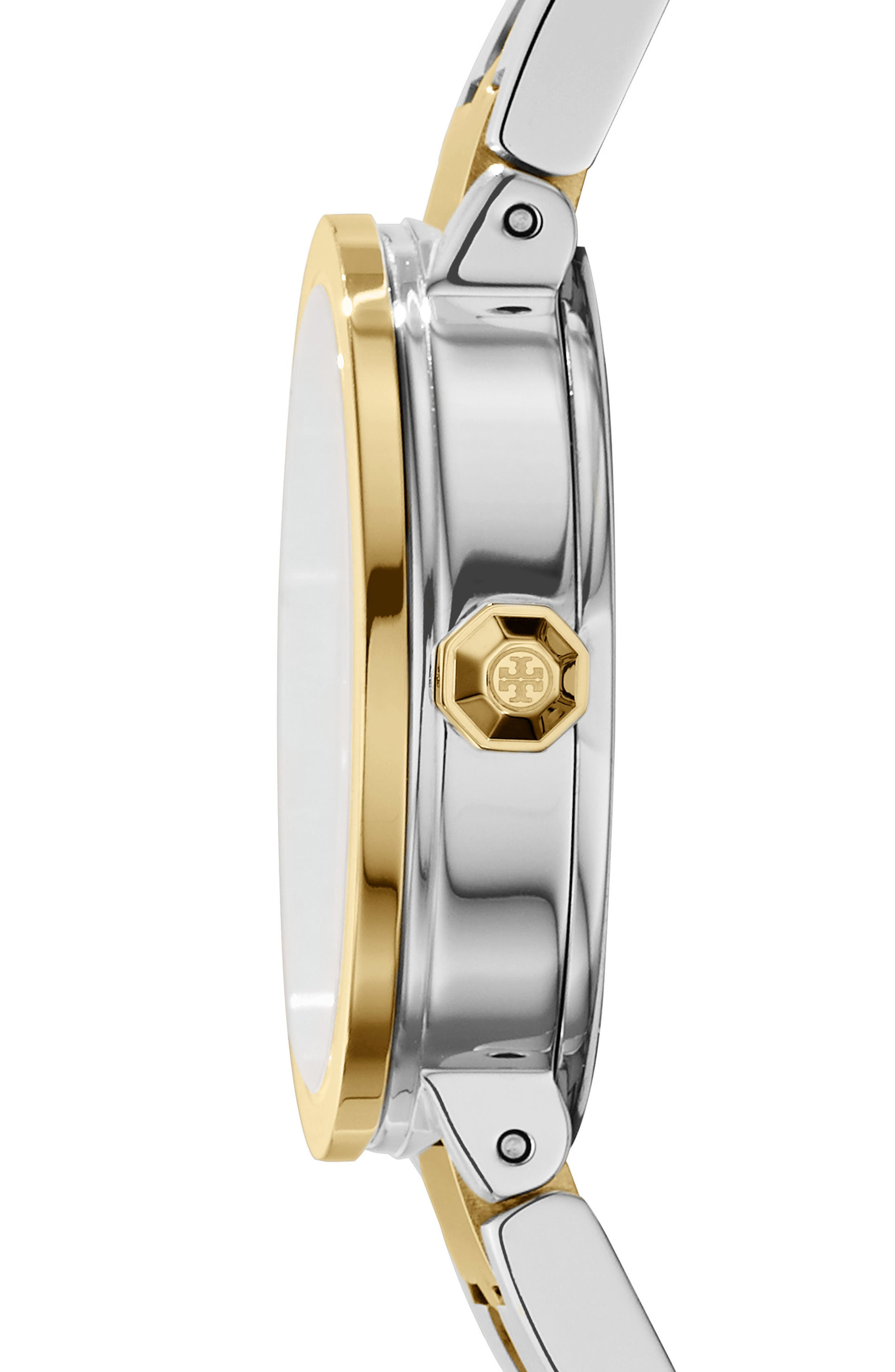 Reva Logo Dial Bracelet Watch, 28mm,                             Alternate thumbnail 2, color,                             Silver/ Ivory/ Gold