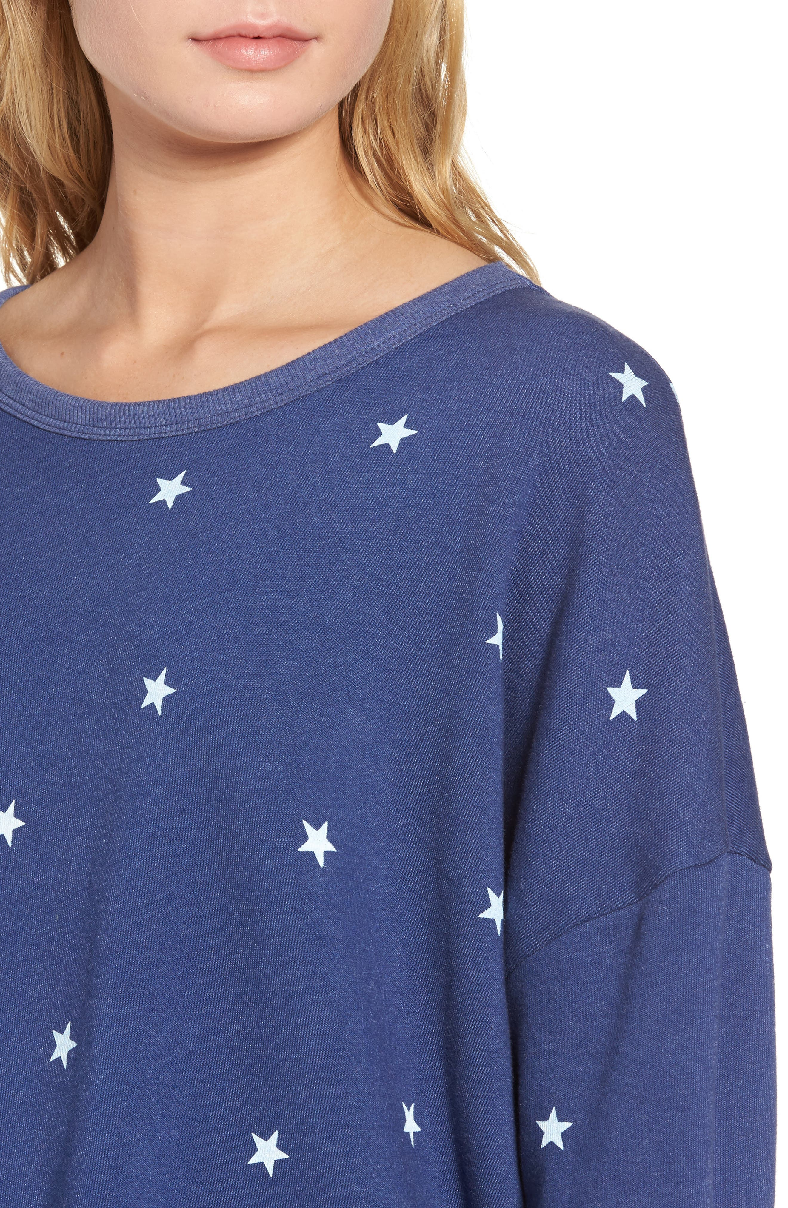 Alternate Image 4  - Wildfox Star Tunic Sweatshirt