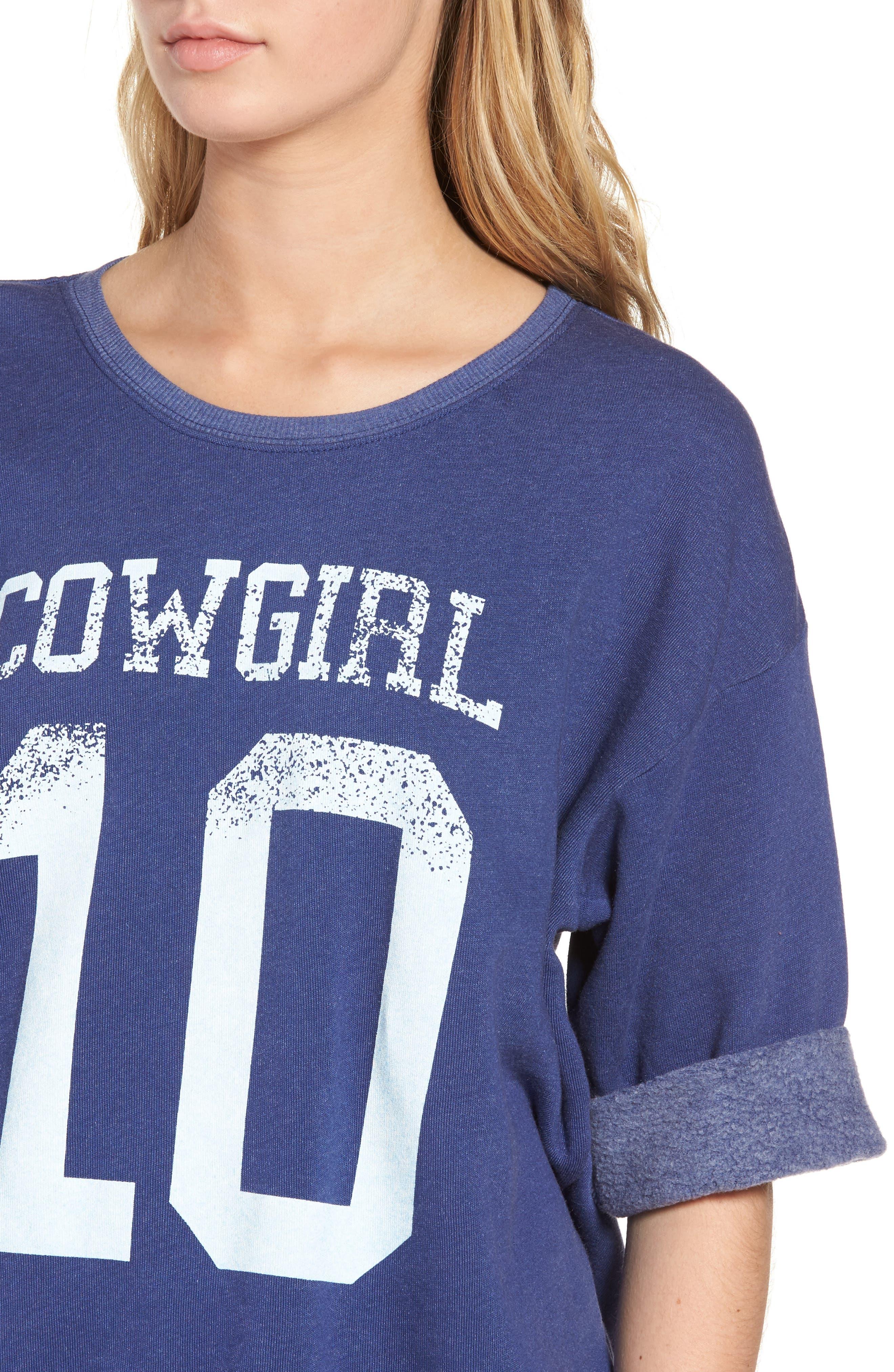 Cowgirl Sweatshirt,                             Alternate thumbnail 4, color,                             Cowboy Blue