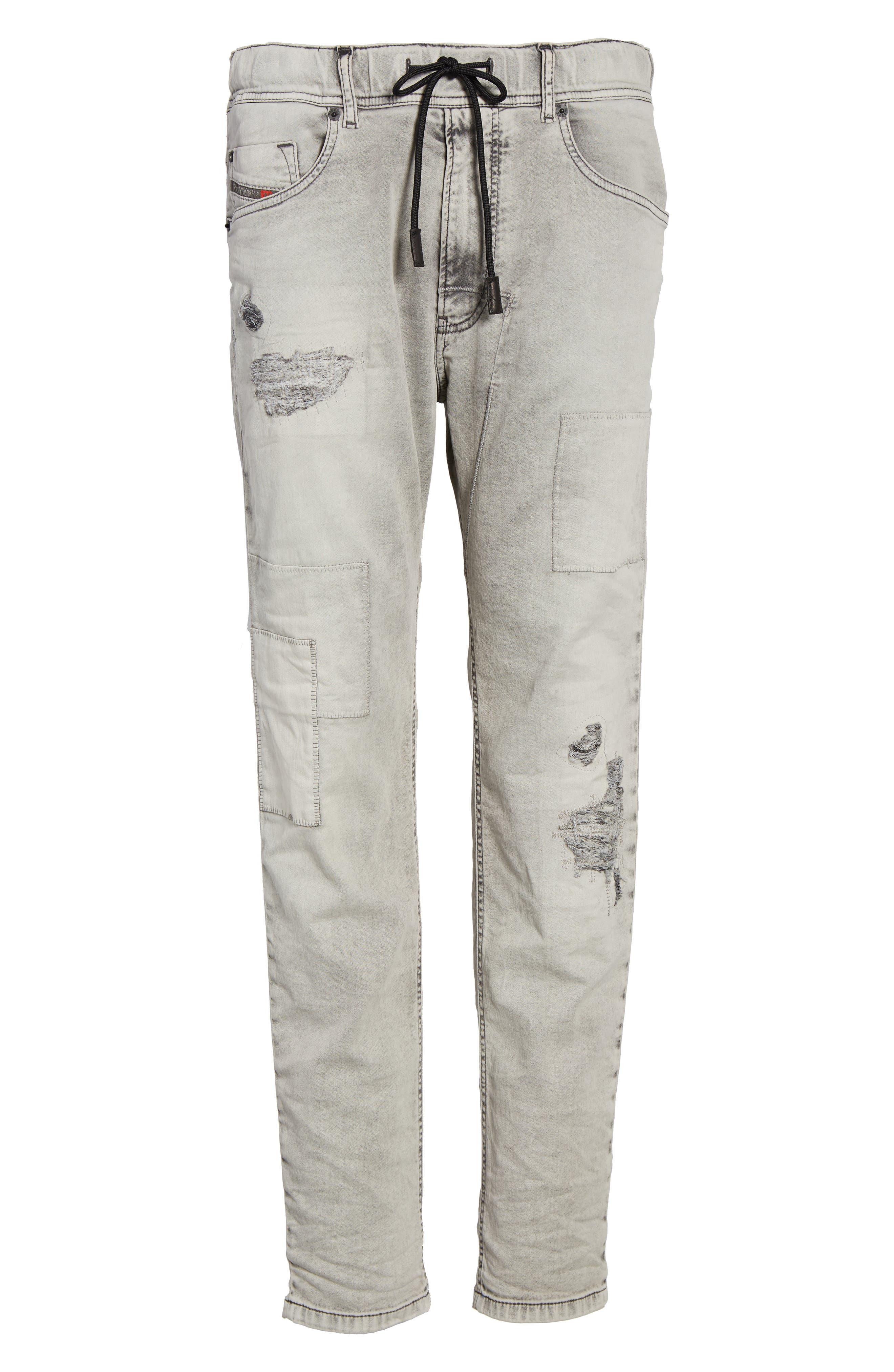 Alternate Image 6  - DIESEL® Narrot Slouchy Skinny Fit Jeans (0684M)