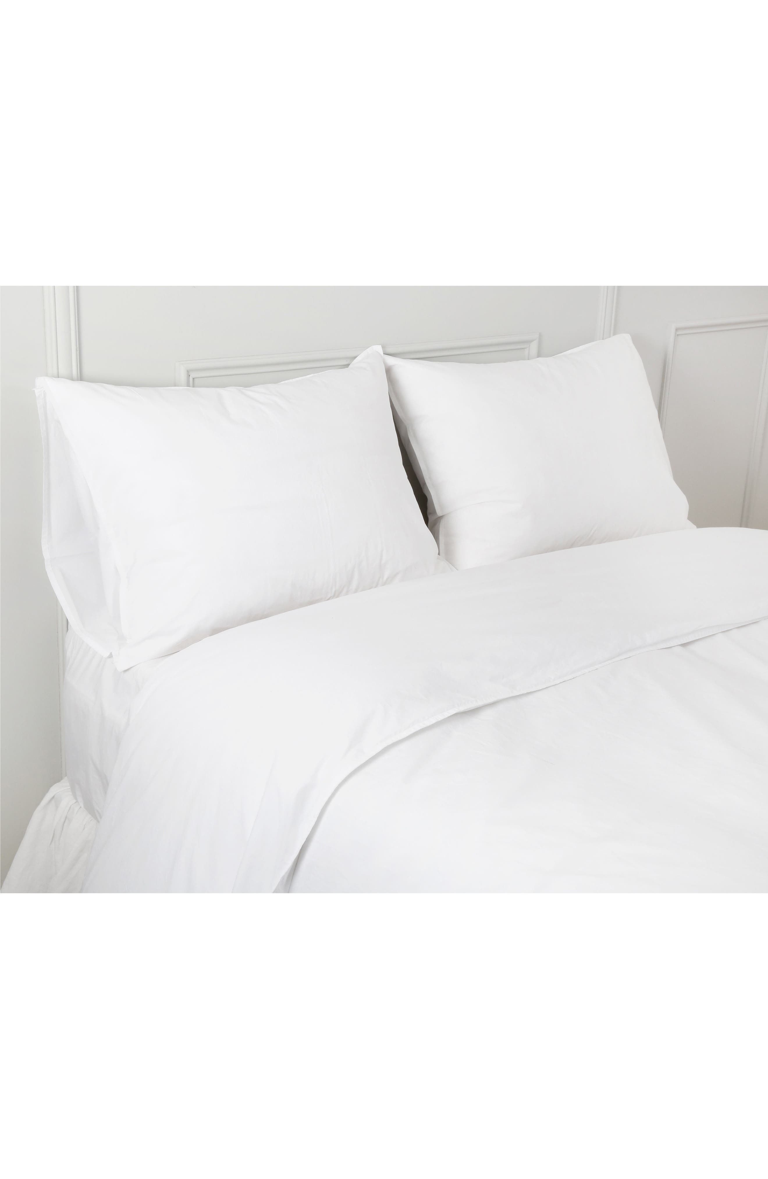 Cotton Percale Sheet Set,                             Main thumbnail 1, color,                             White