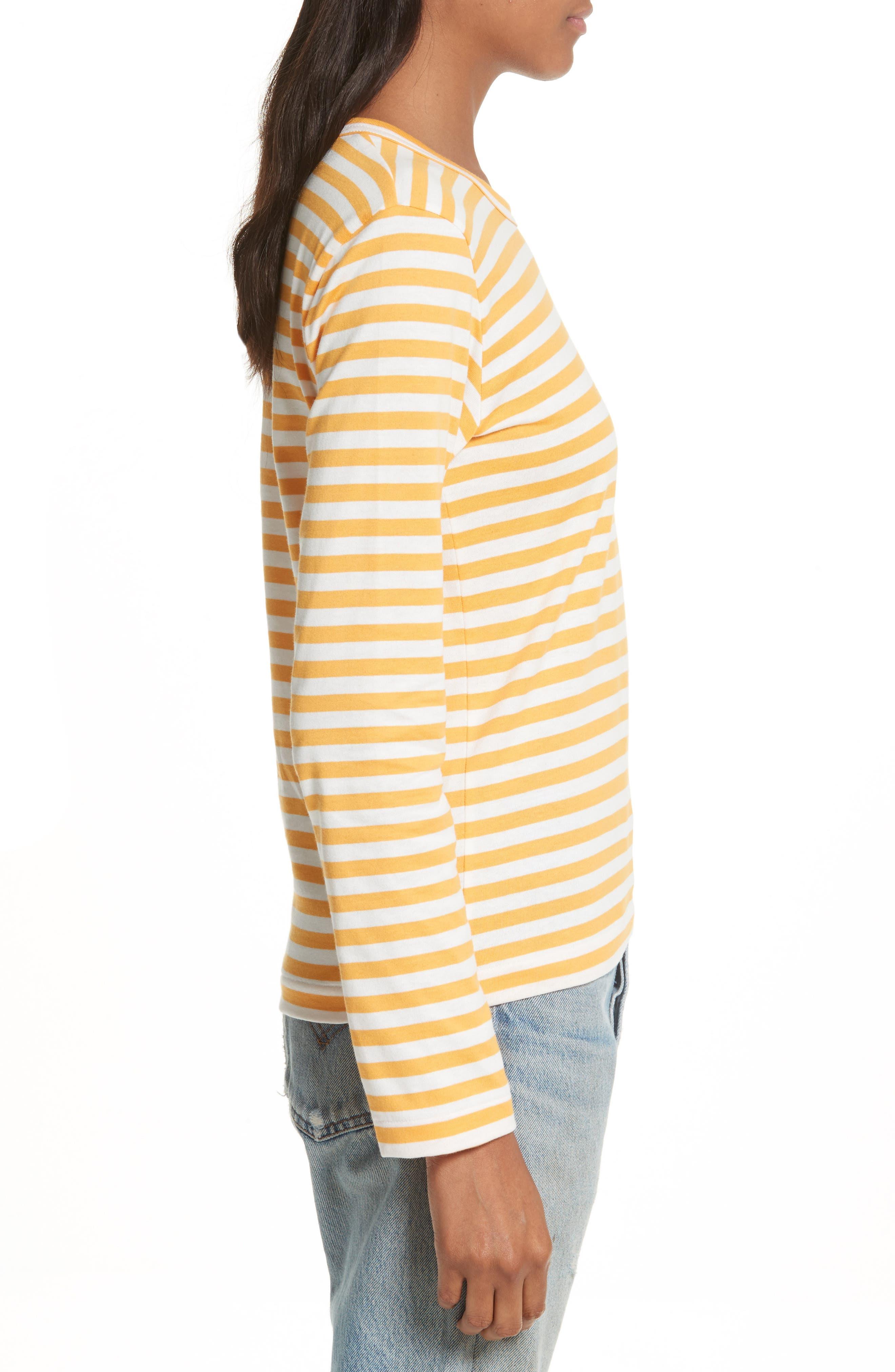 Alternate Image 3  - Comme des Garçons PLAY Stripe Cotton Tee