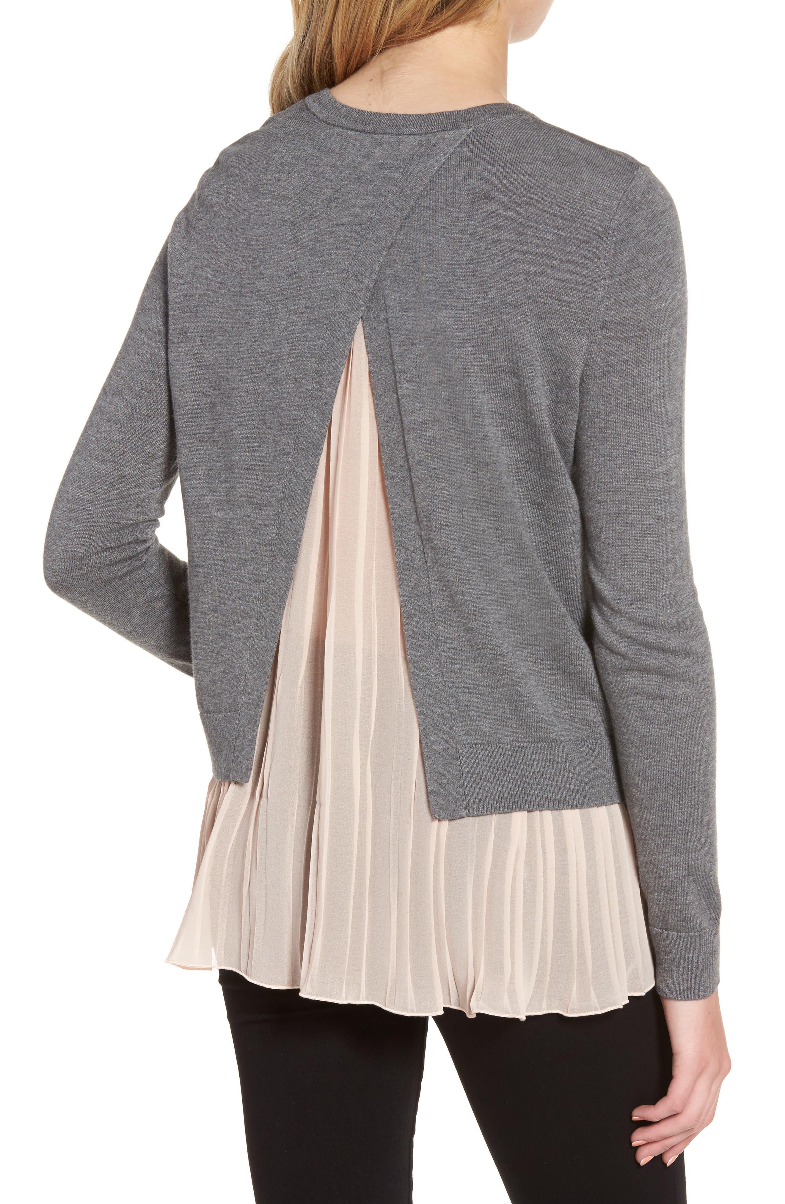 Alternate Image 2  - Chelsea28 Pleated Hem Sweater