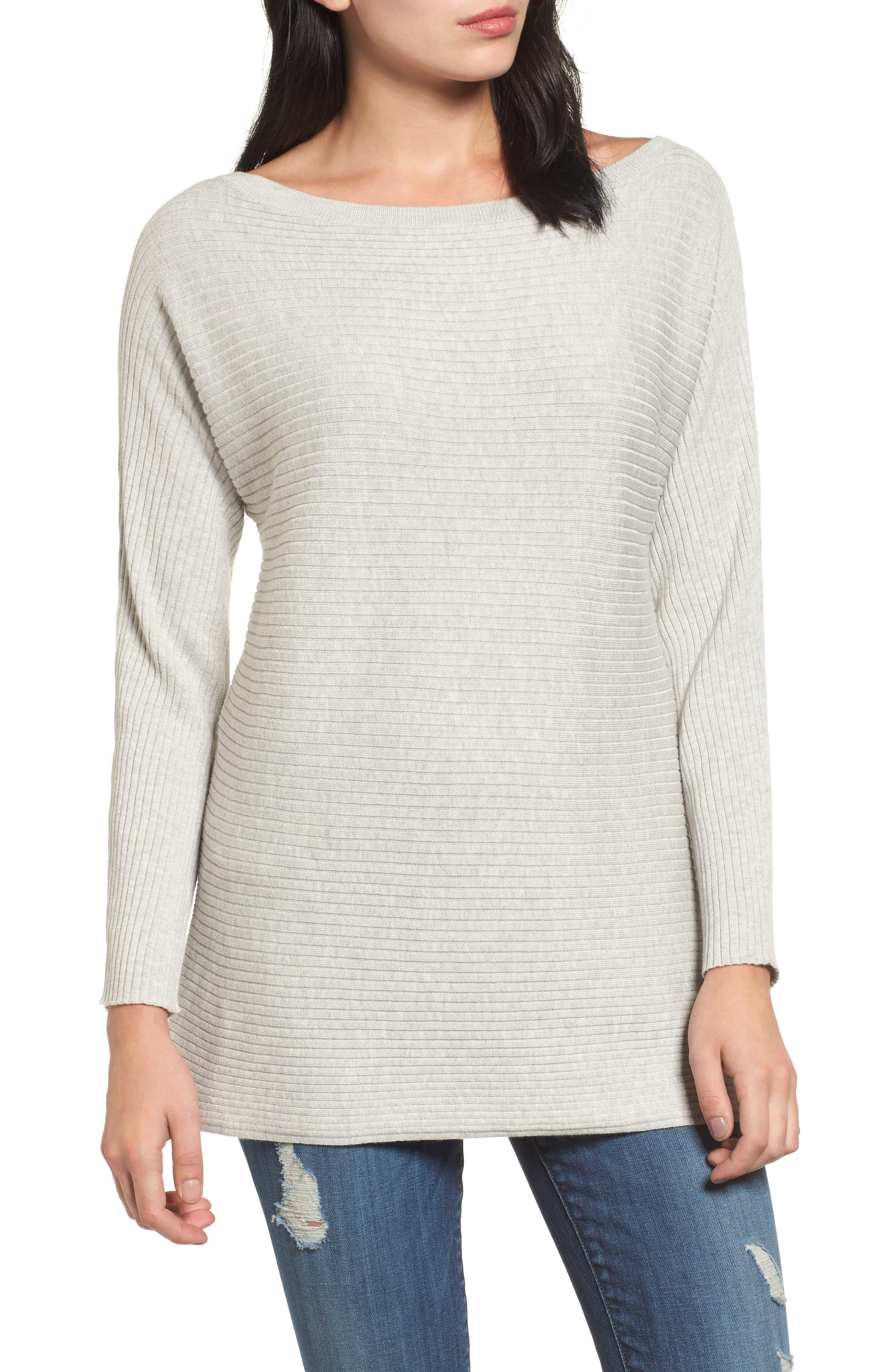 Halogen® Bateau Neck Sweater (Regular & Petite)