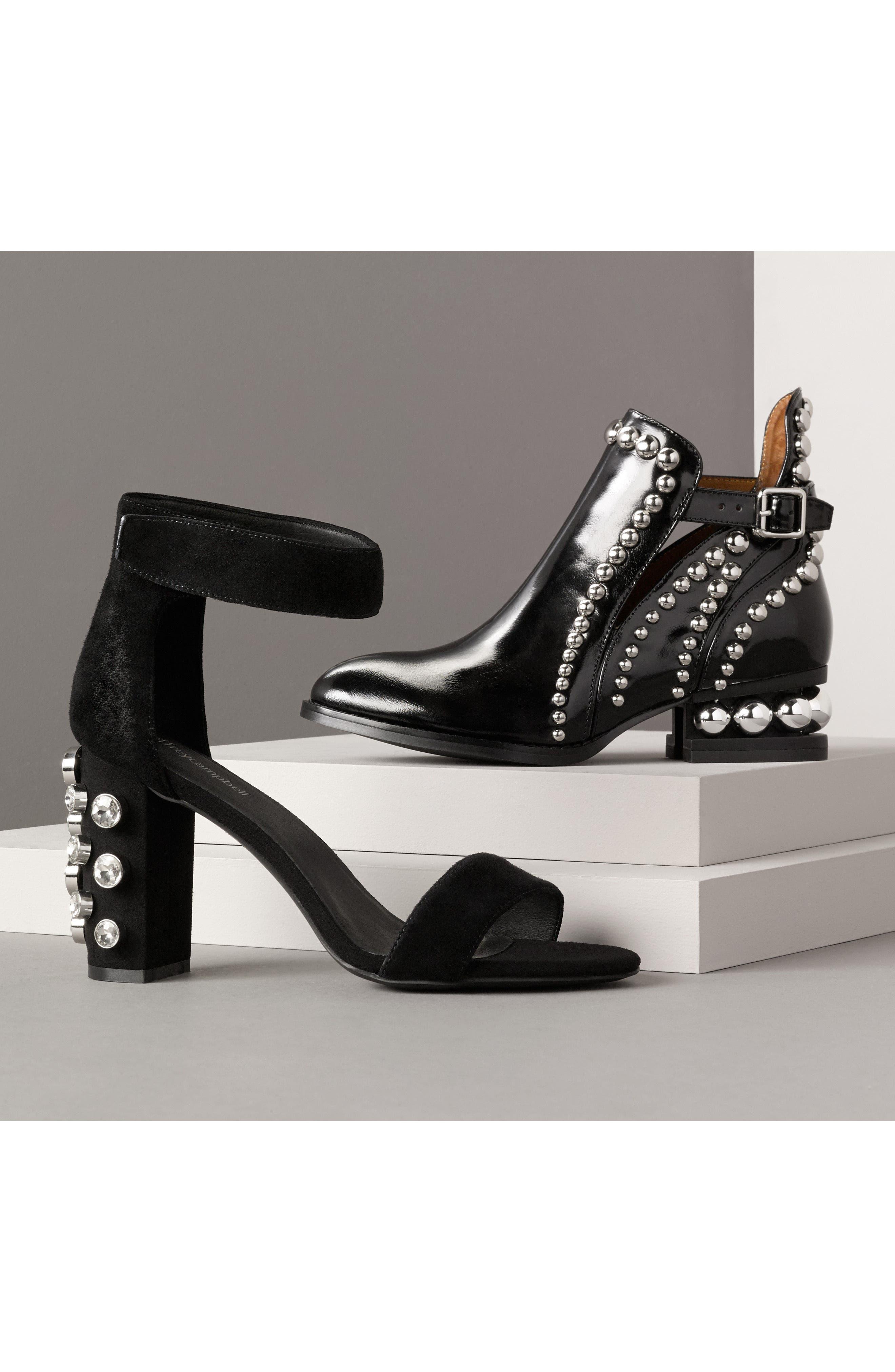jeffrey campbell rylance studded bootie black box silver. Black Bedroom Furniture Sets. Home Design Ideas