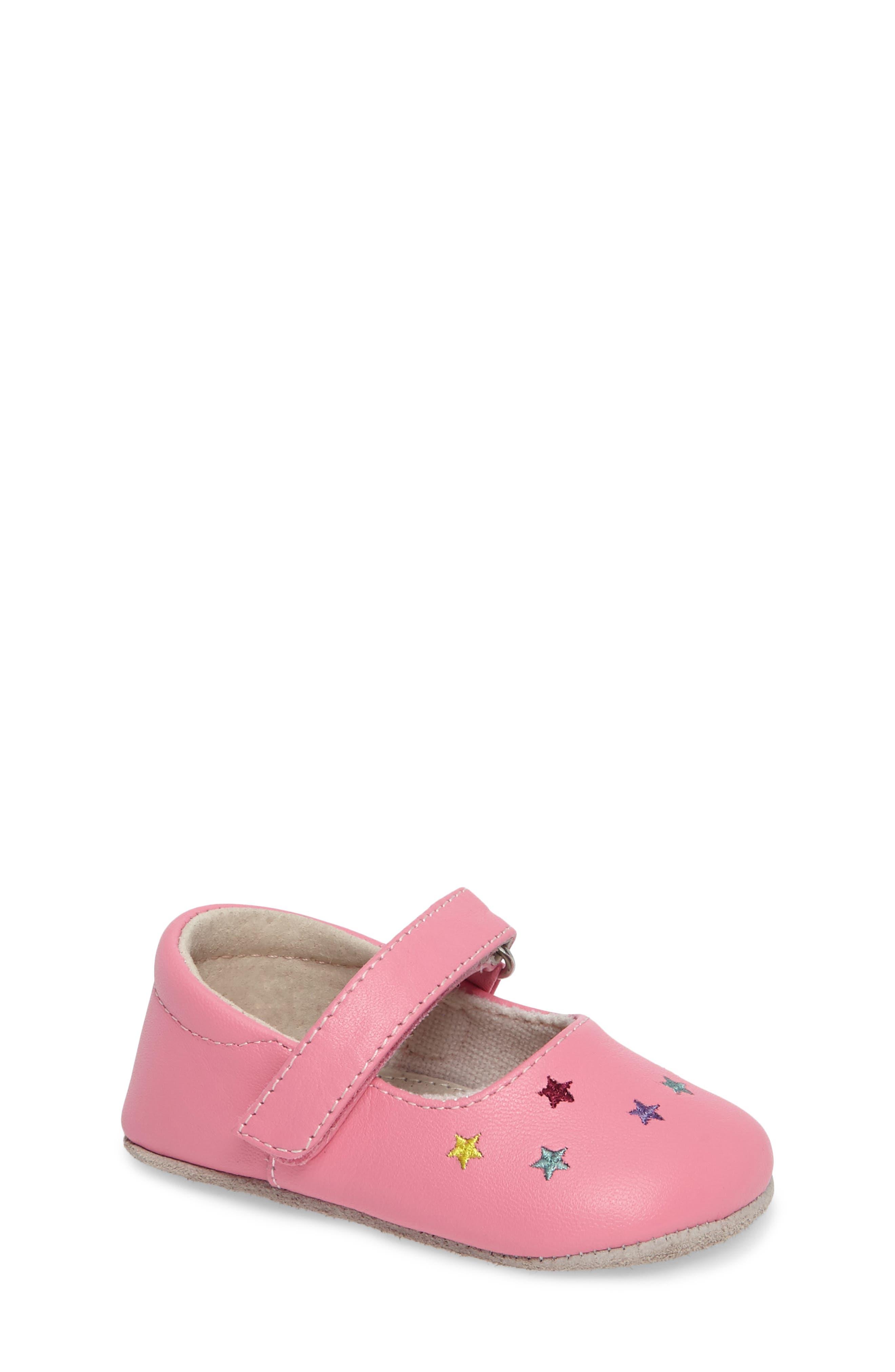 See Kai Run Harriet Mary Jane Crib Shoe (Baby)
