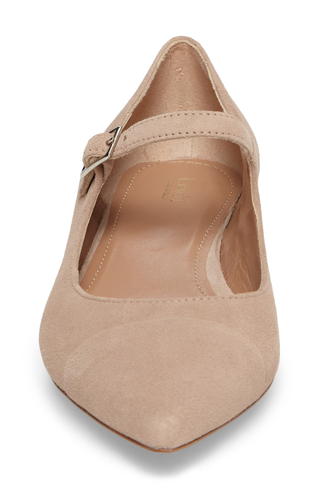 Carmella Mary Jane Flat,                             Alternate thumbnail 4, color,                             Blush Suede