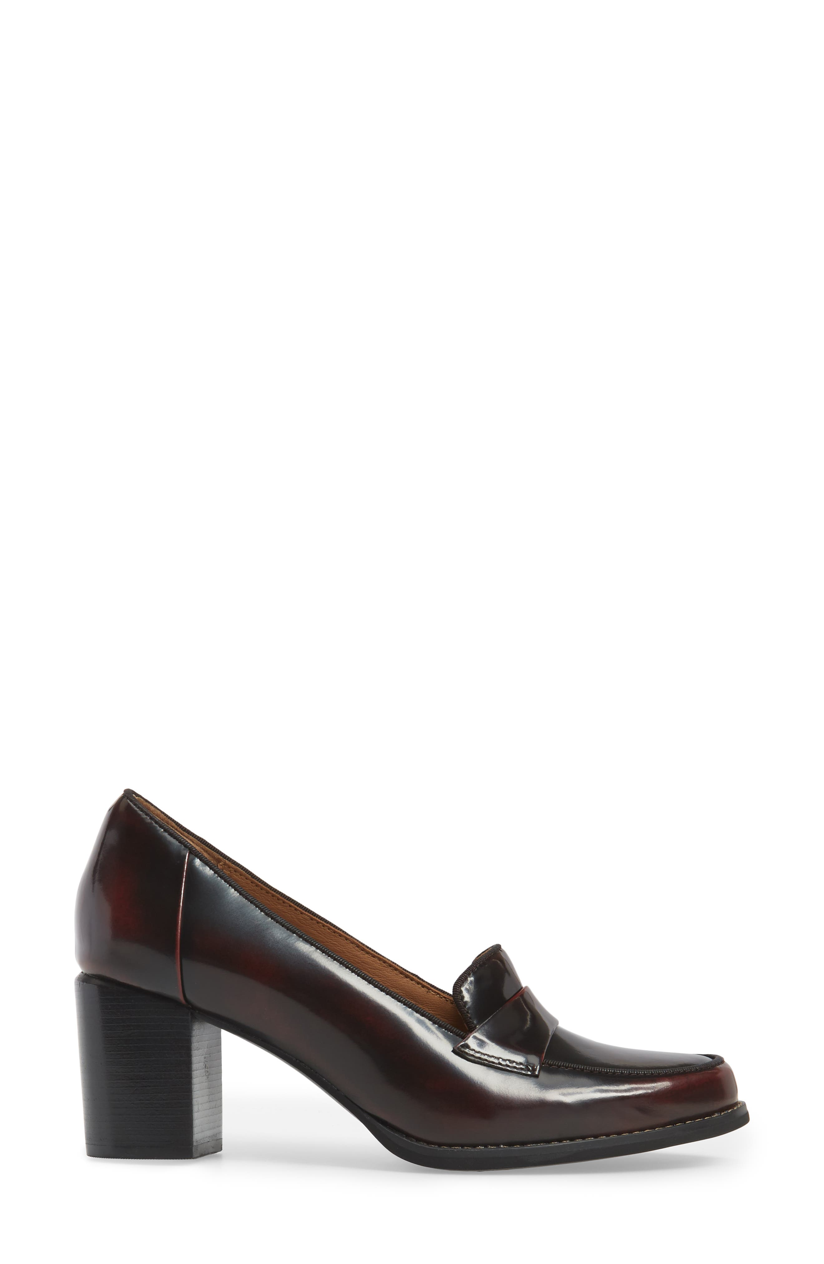 Tarah Grace Pump,                             Alternate thumbnail 3, color,                             Burgundy Leather