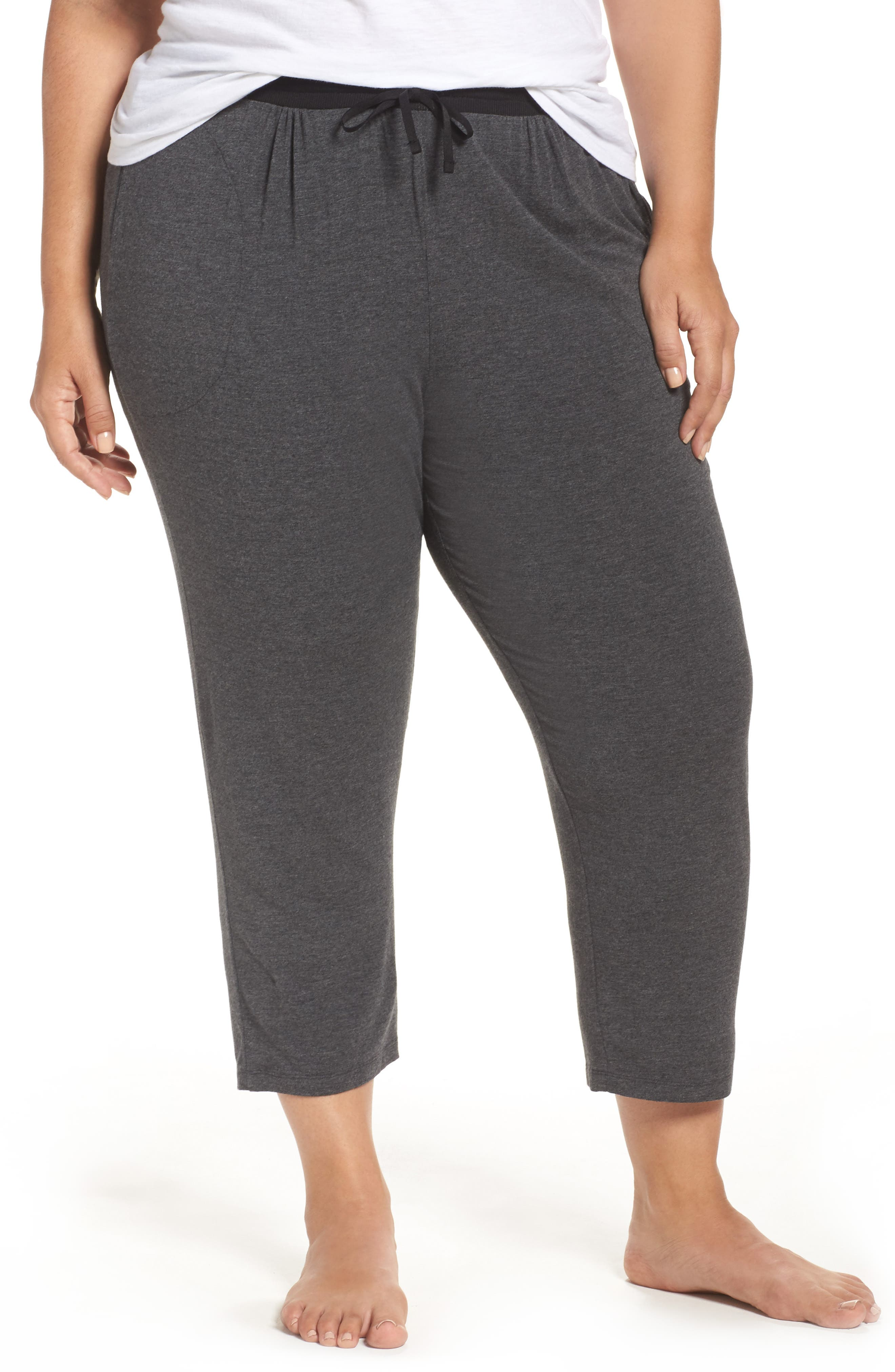 Main Image - DKNY Crop Pants (Plus Size)