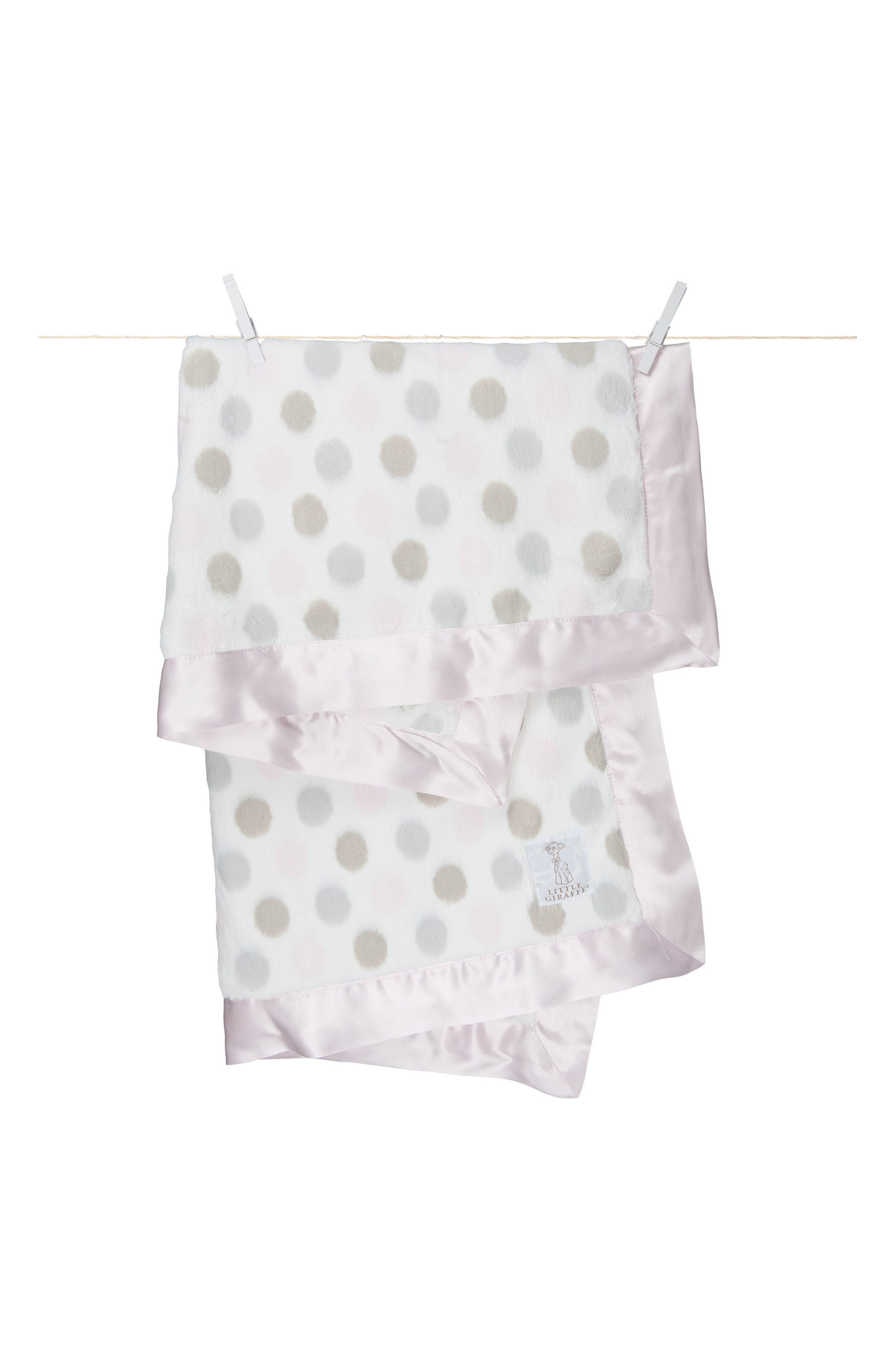 'Luxe Dot' Blanket,                             Main thumbnail 1, color,                             Pink